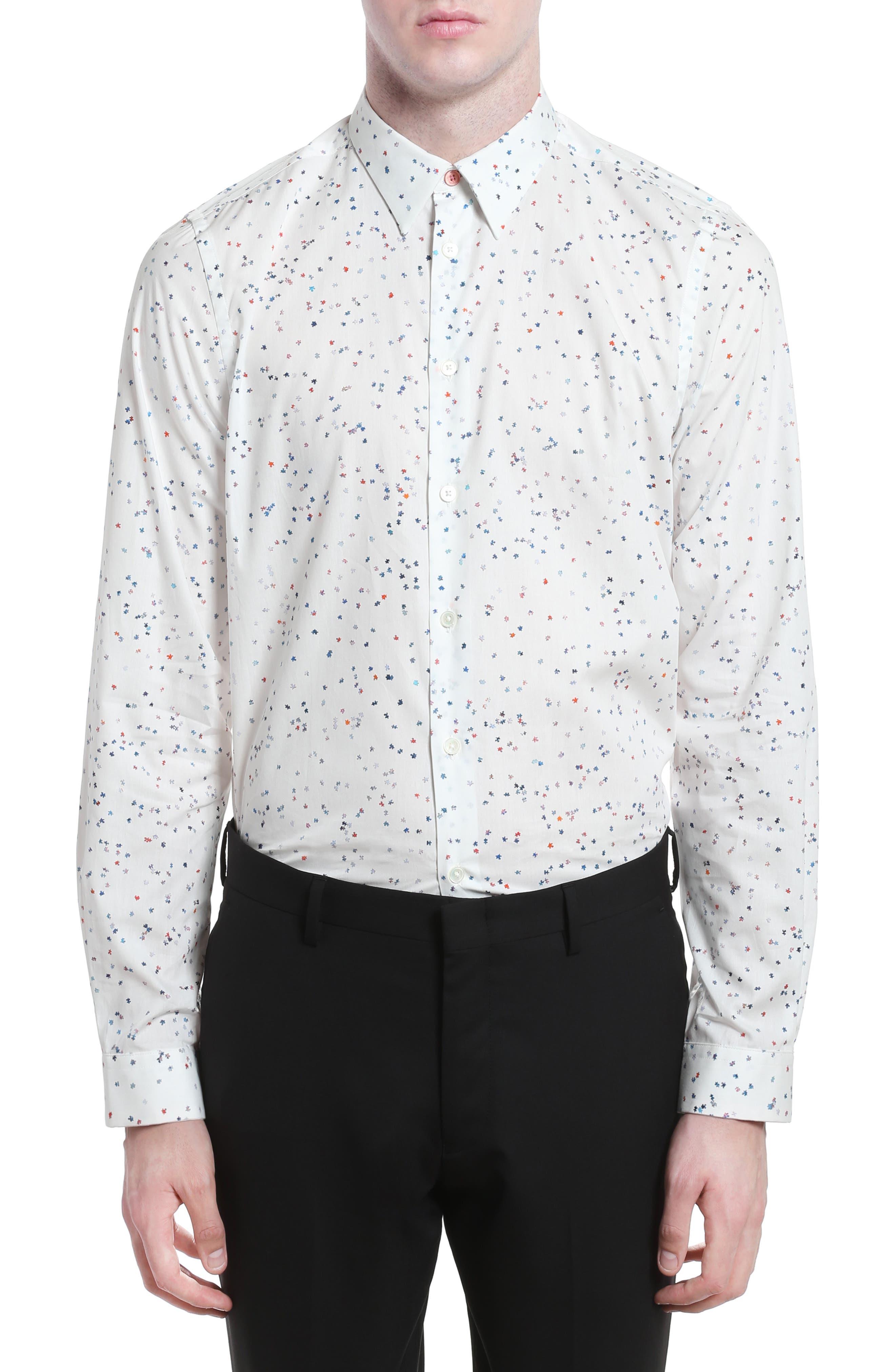 Puzzle Print Shirt,                         Main,                         color, 100