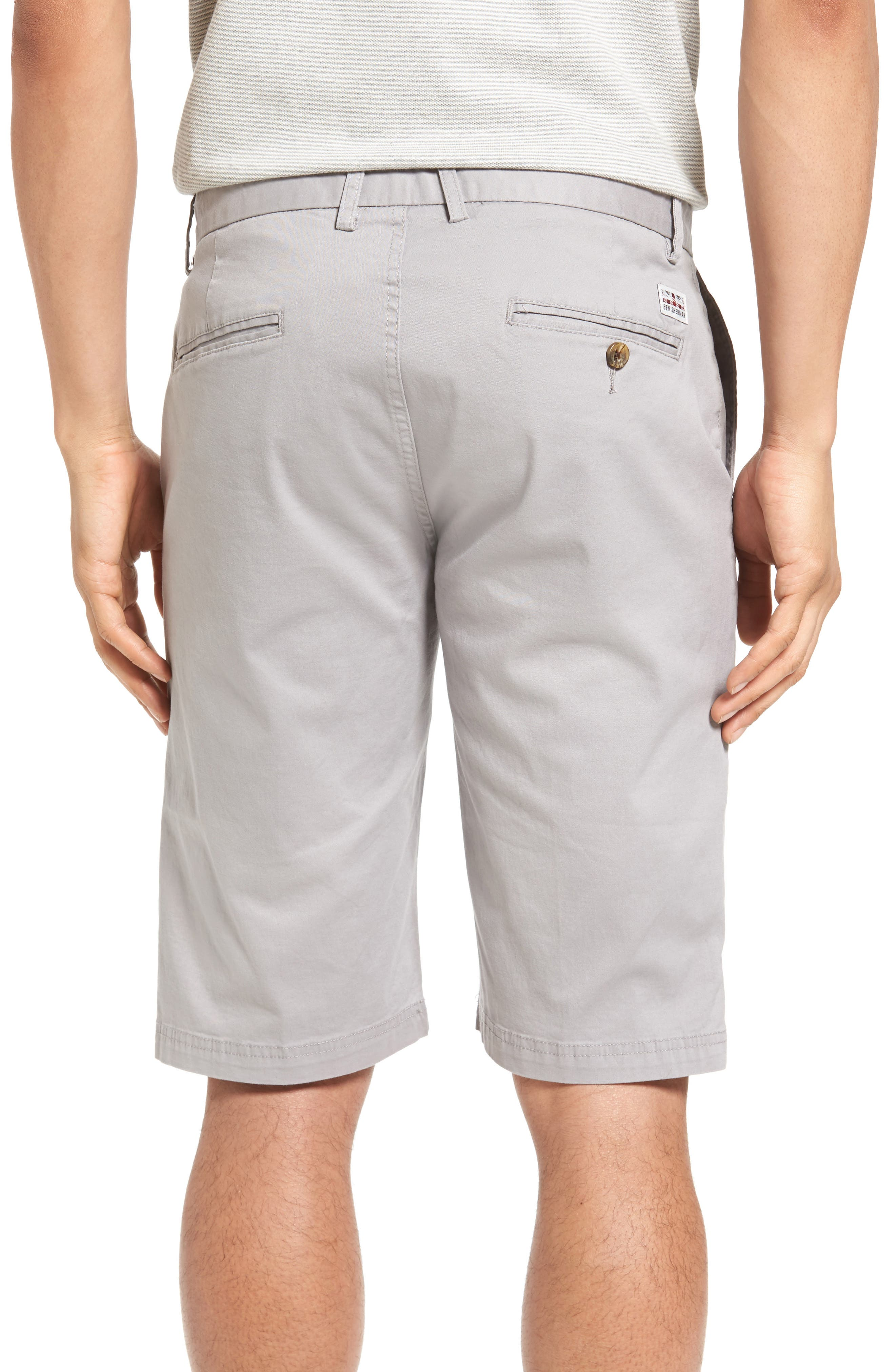 Slim Stretch Chino Shorts,                             Alternate thumbnail 2, color,                             020