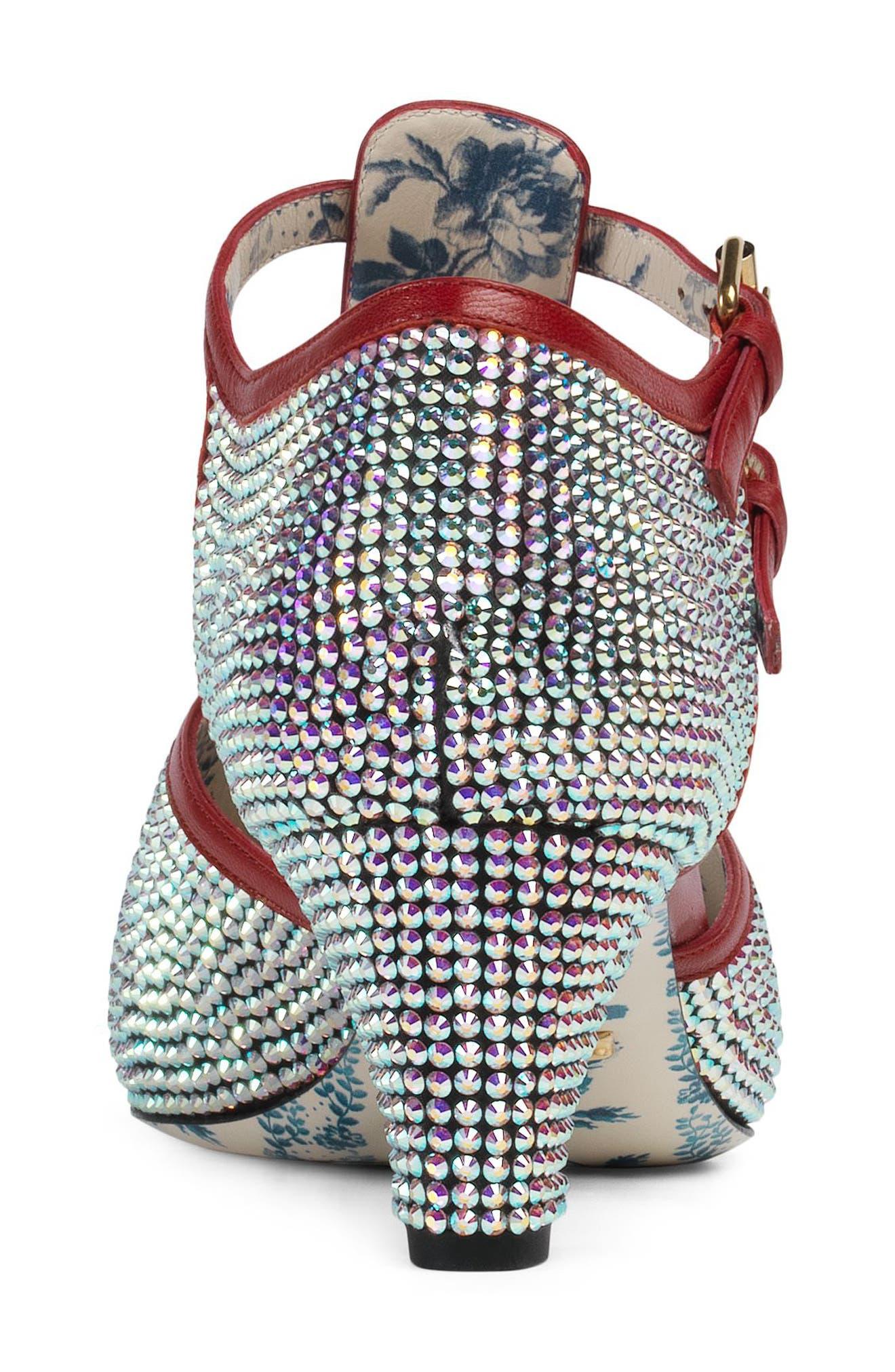 Mila Crystal Embellished T-Strap Pump,                             Alternate thumbnail 2, color,                             040