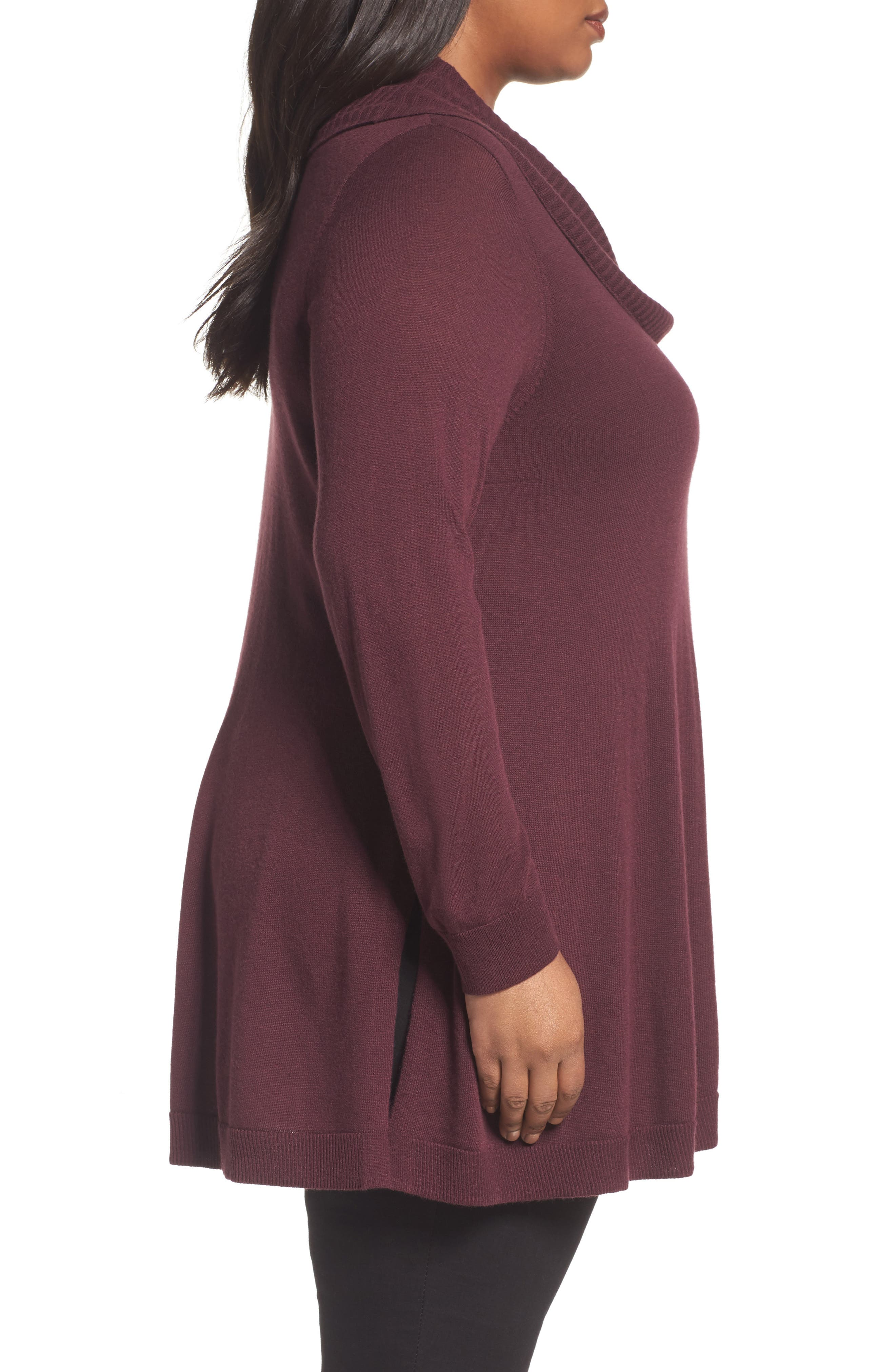 Cowl Neck Tunic,                             Alternate thumbnail 6, color,