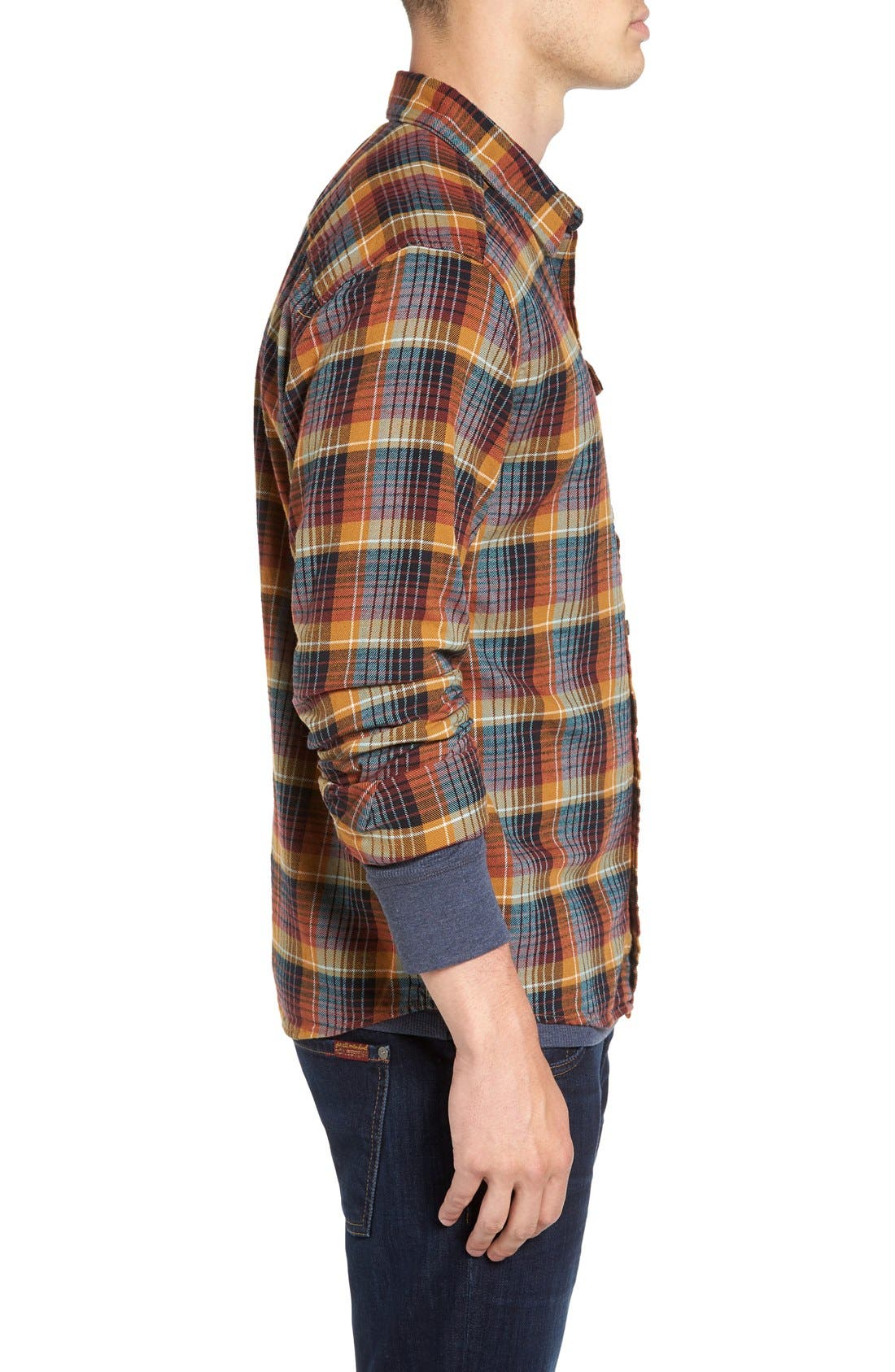 Regular Fit Organic Cotton Flannel Shirt,                             Alternate thumbnail 34, color,