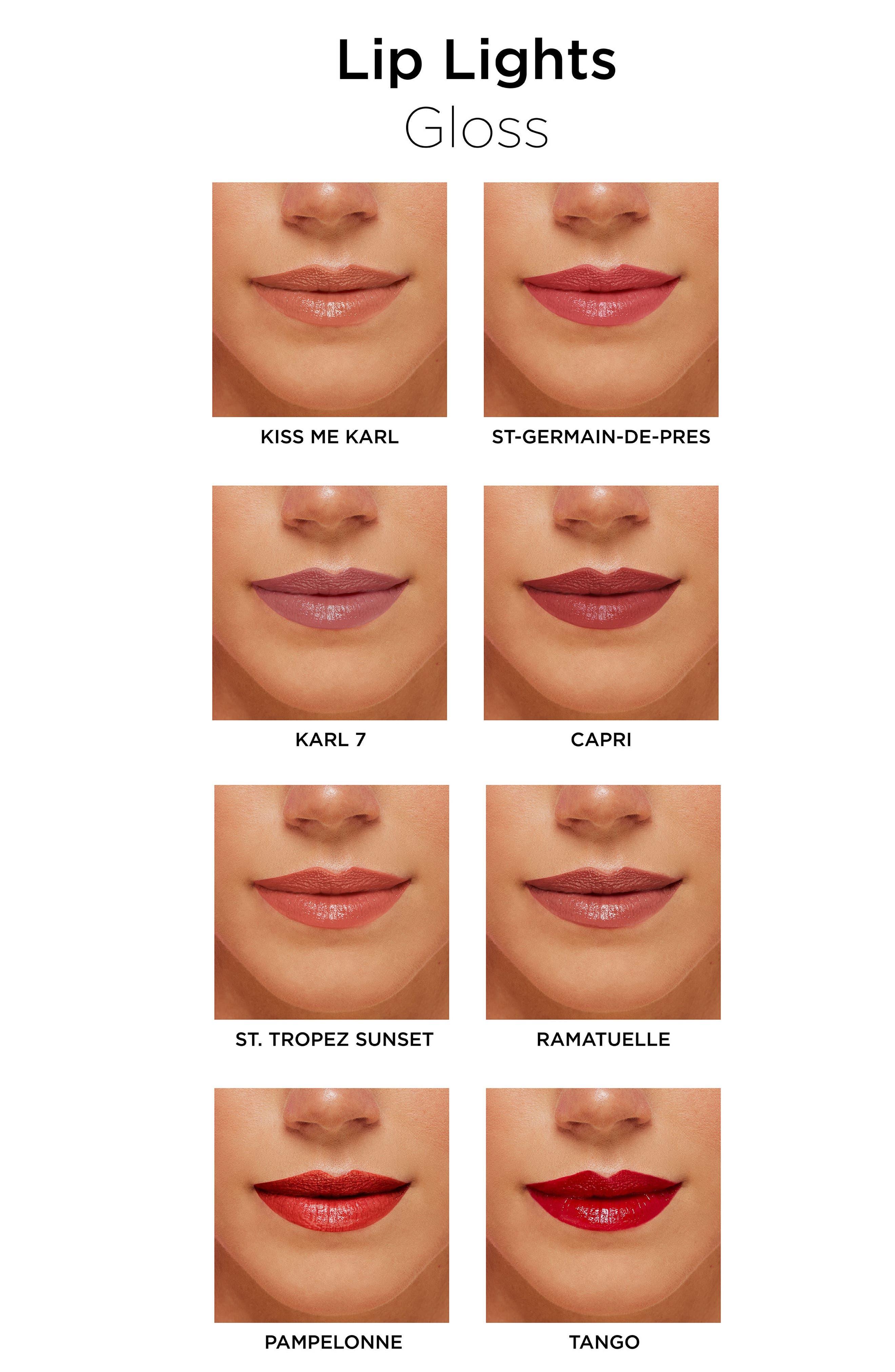 KARL LAGERFELD + MODELCO Kiss Me Karl Lip Lights Lip Gloss,                             Alternate thumbnail 11, color,                             200