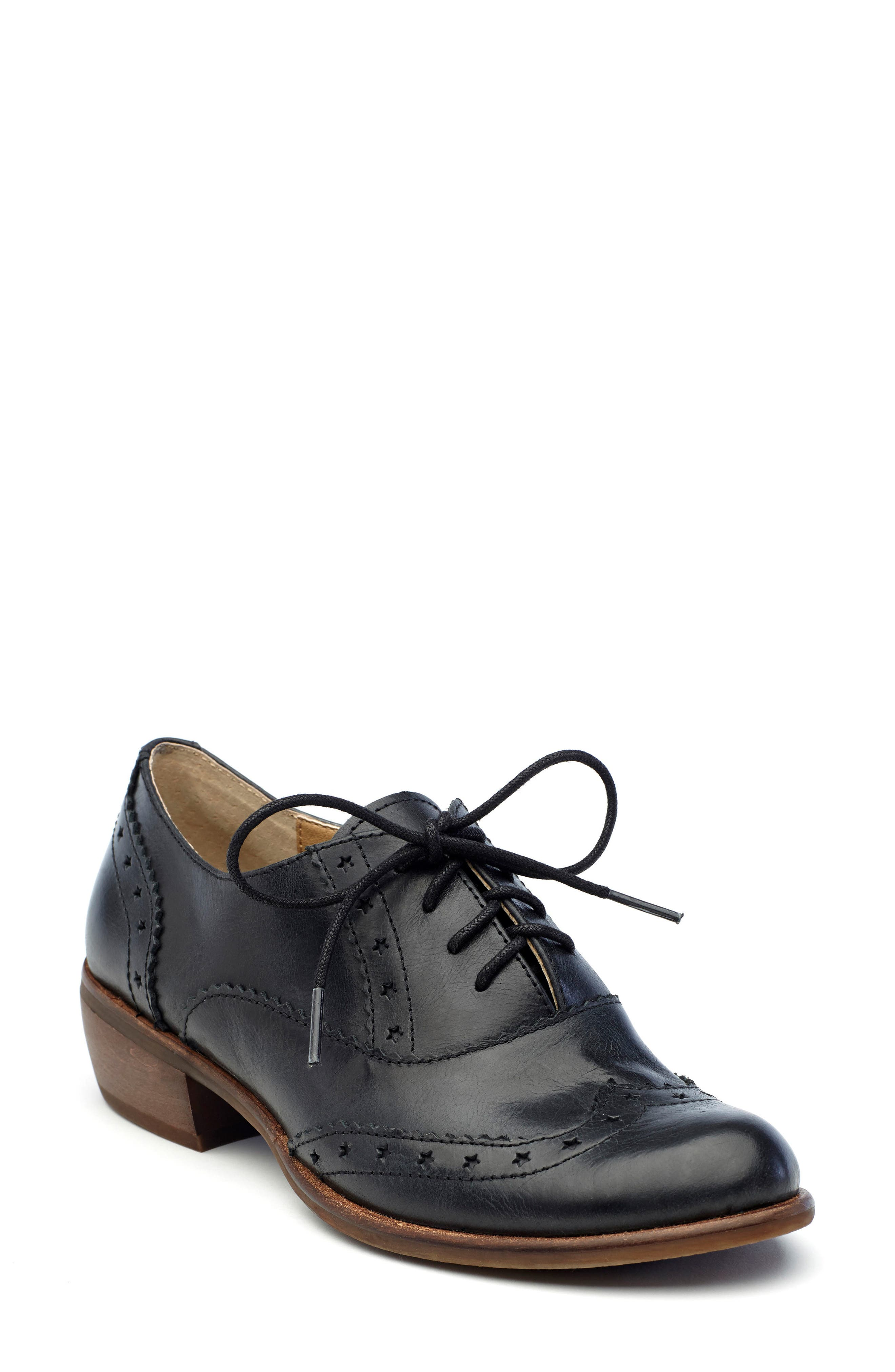 Heart Lace-Up Loafer,                             Main thumbnail 1, color,                             001