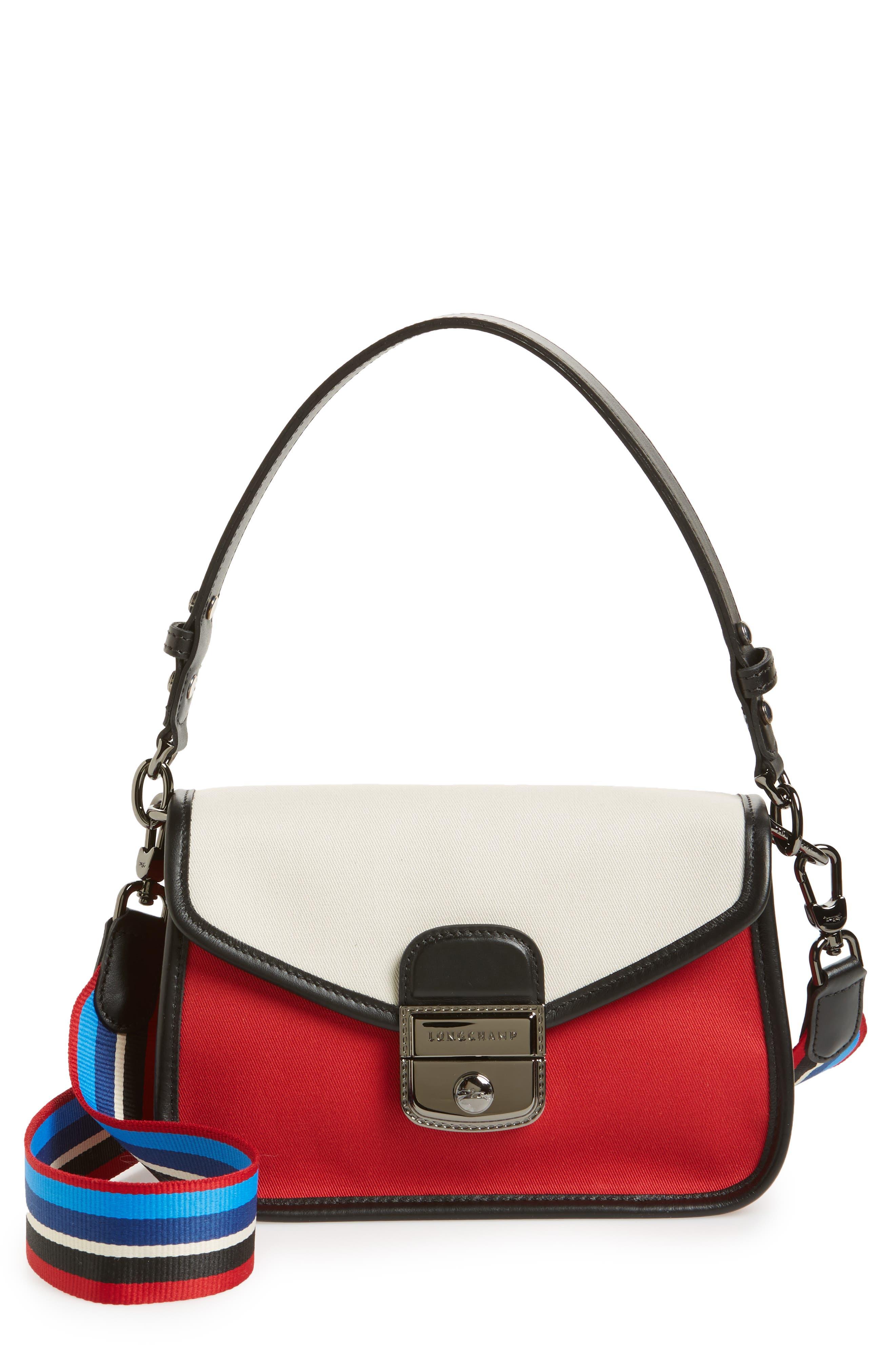 Small Mademoiselle Gabardine Canvas Shoulder Bag,                             Main thumbnail 1, color,