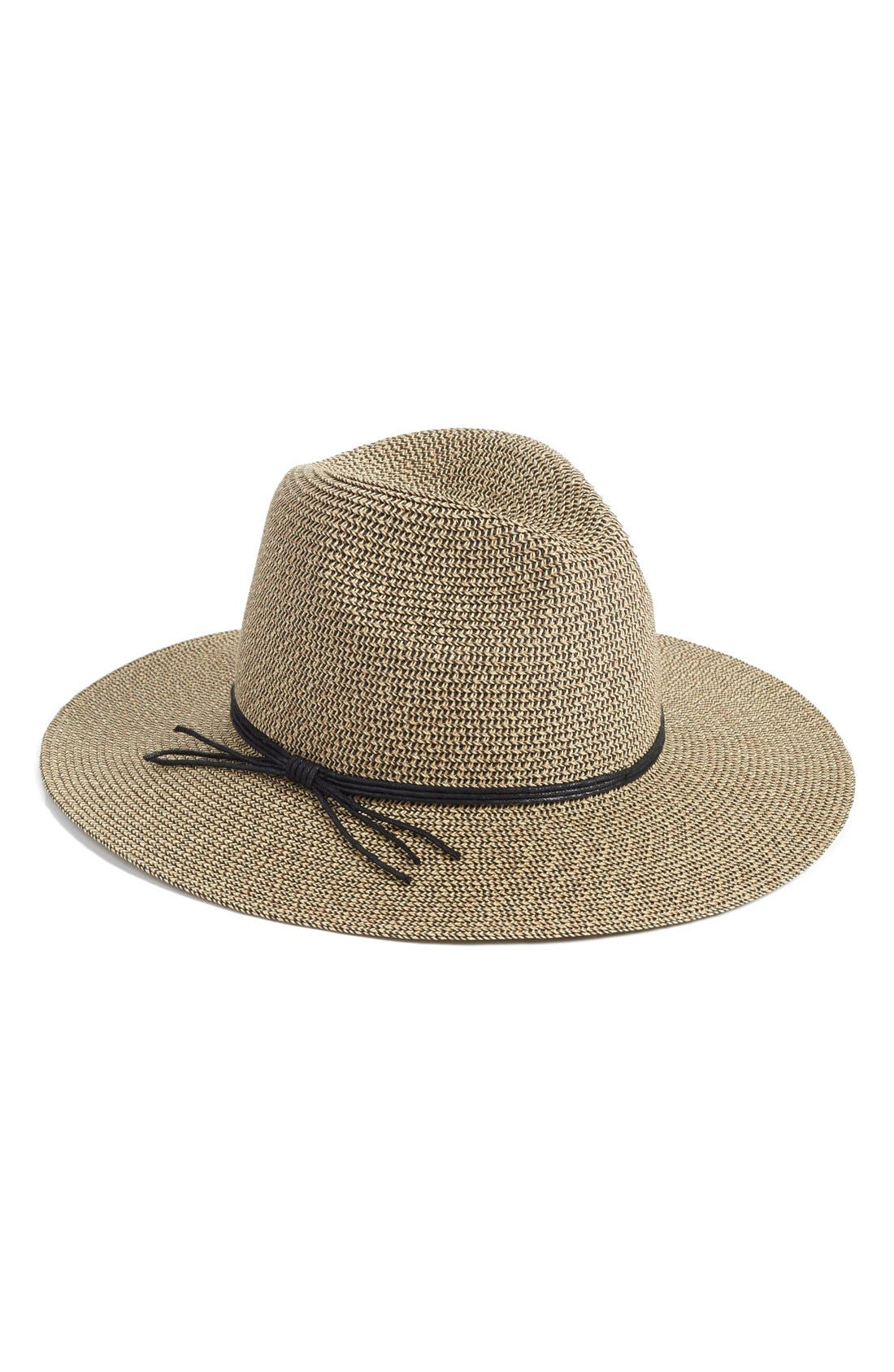 Woven Panama Hat,                         Main,                         color, 235