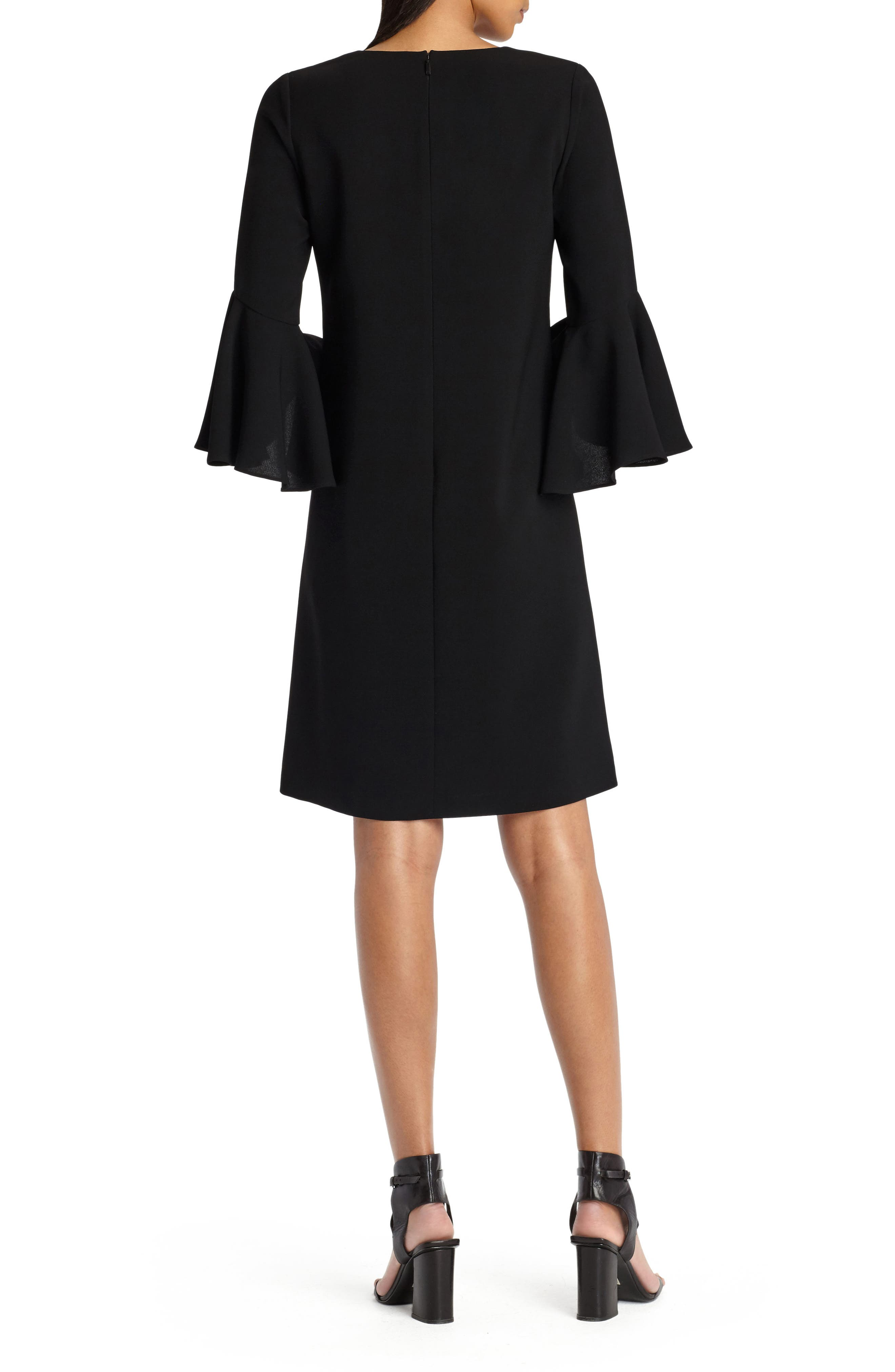 Holly Bell Sleeve Dress,                             Alternate thumbnail 2, color,                             001