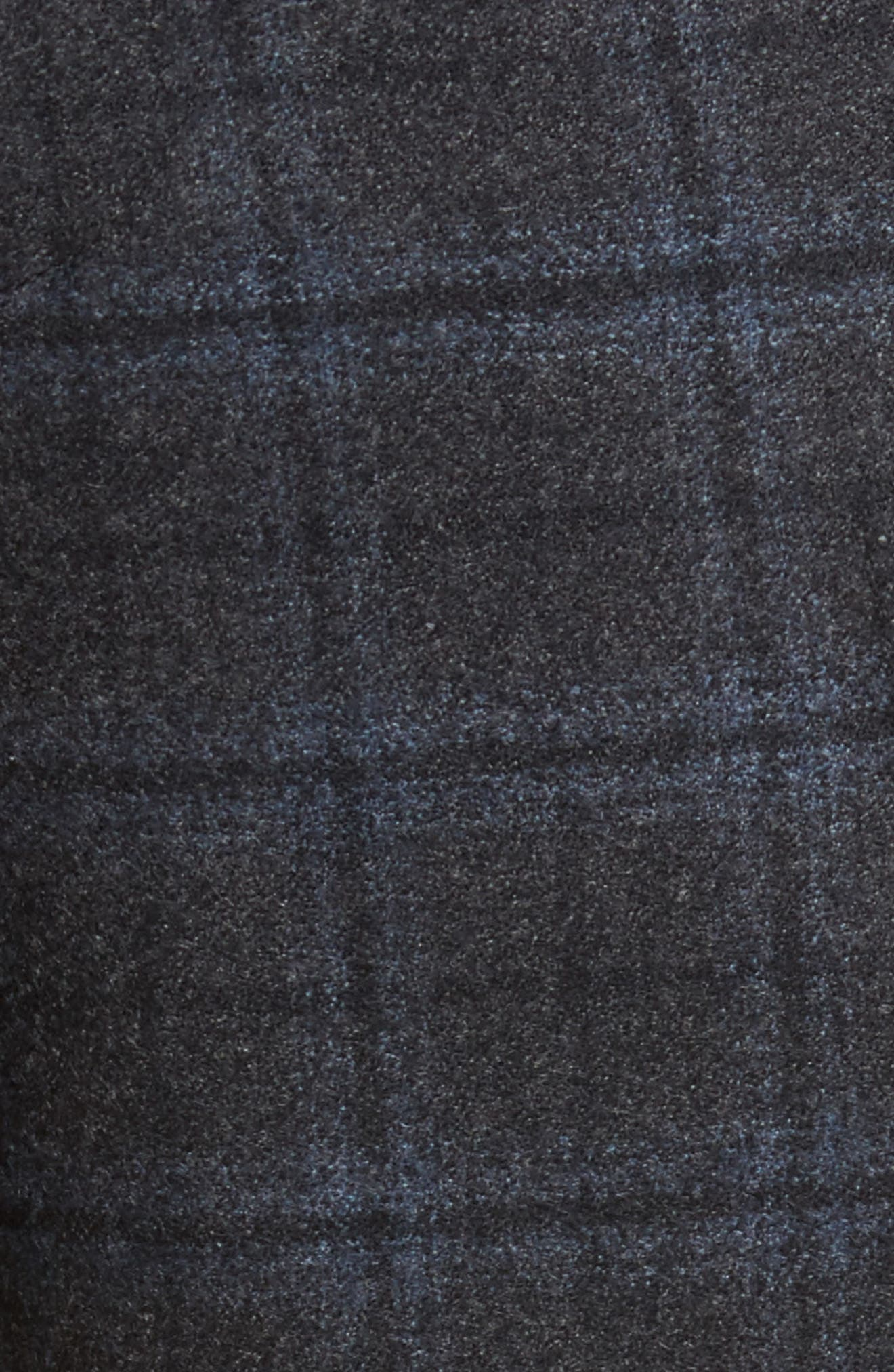 Flat Front Windowpane Wool Trousers,                             Alternate thumbnail 2, color,