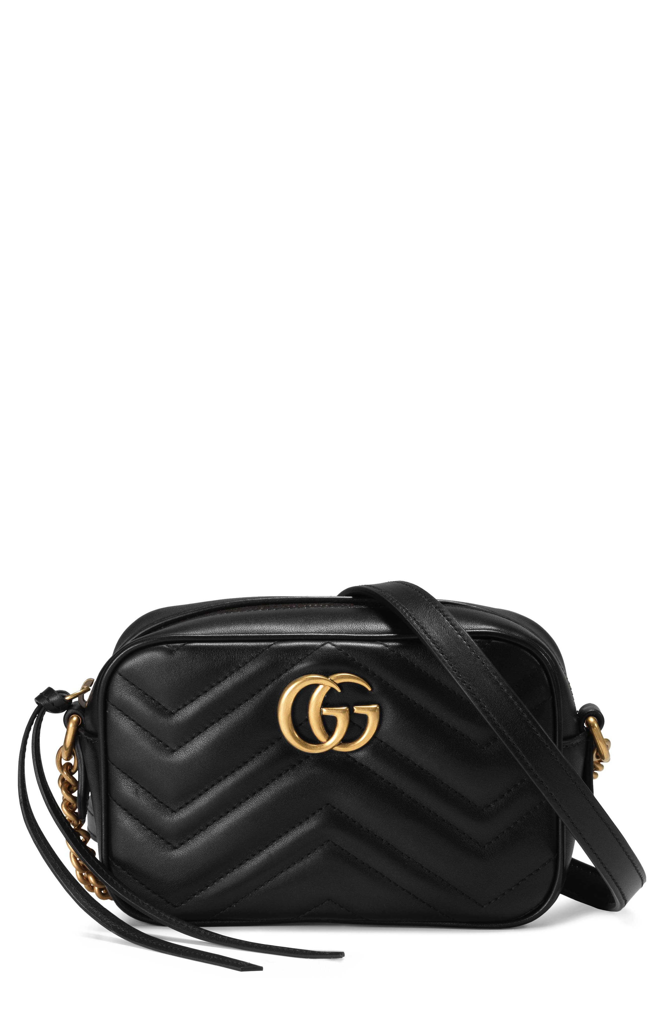 GG Marmont 2.0 Matelassé Leather Shoulder Bag,                             Main thumbnail 1, color,                             NERO