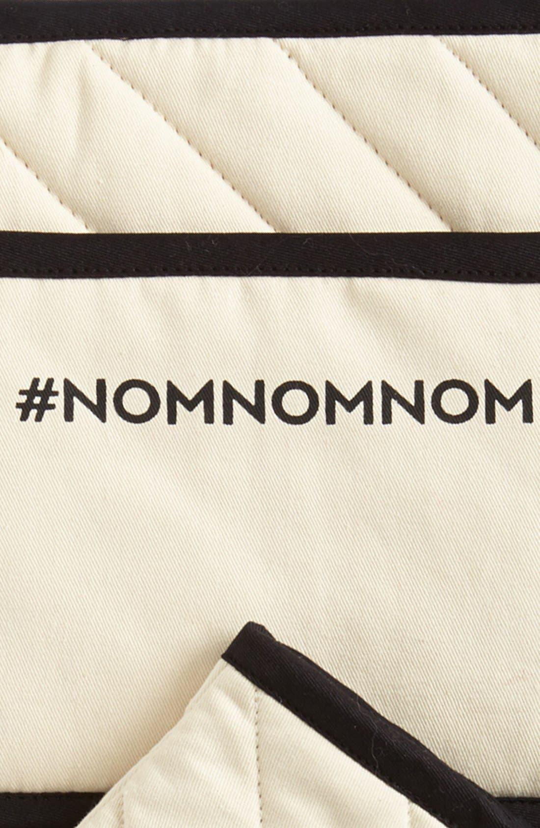 '#NOMNOMNOM' Oven Mitt & Pot Holder,                             Alternate thumbnail 2, color,