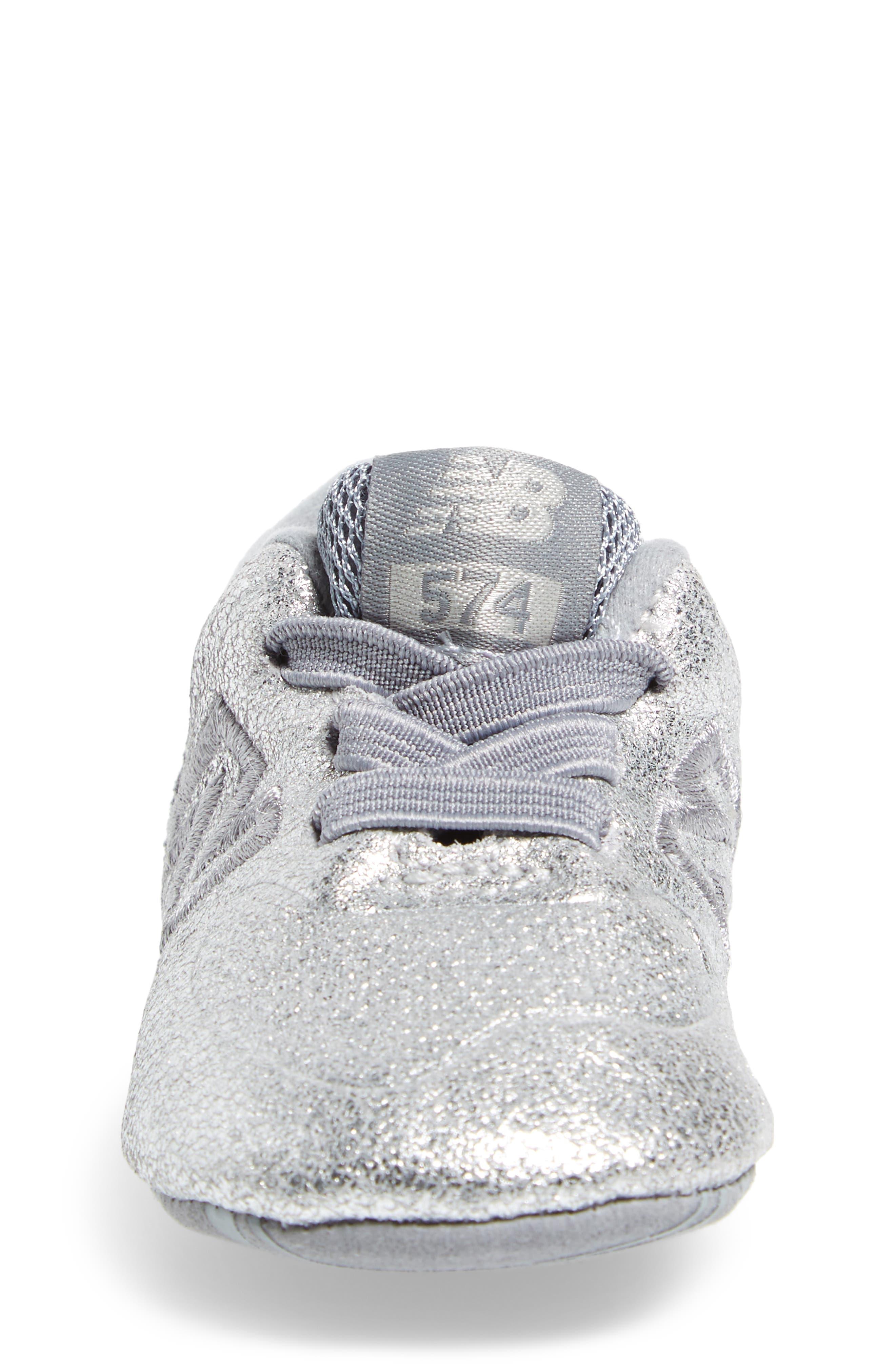 574 Metallic Crib Sneaker,                             Alternate thumbnail 4, color,                             040