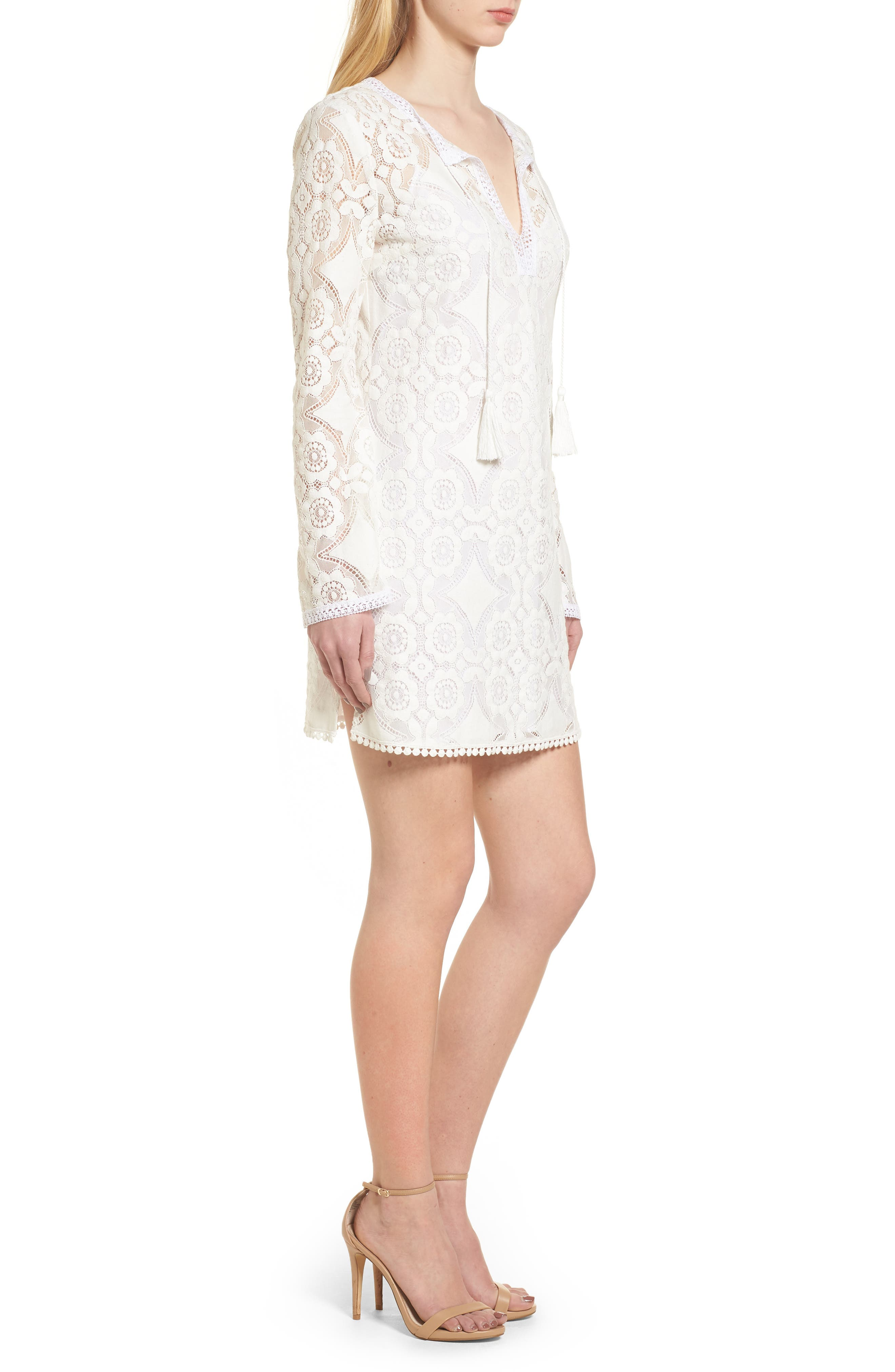 Spa Day Lace Sheath Dress,                             Alternate thumbnail 3, color,                             105