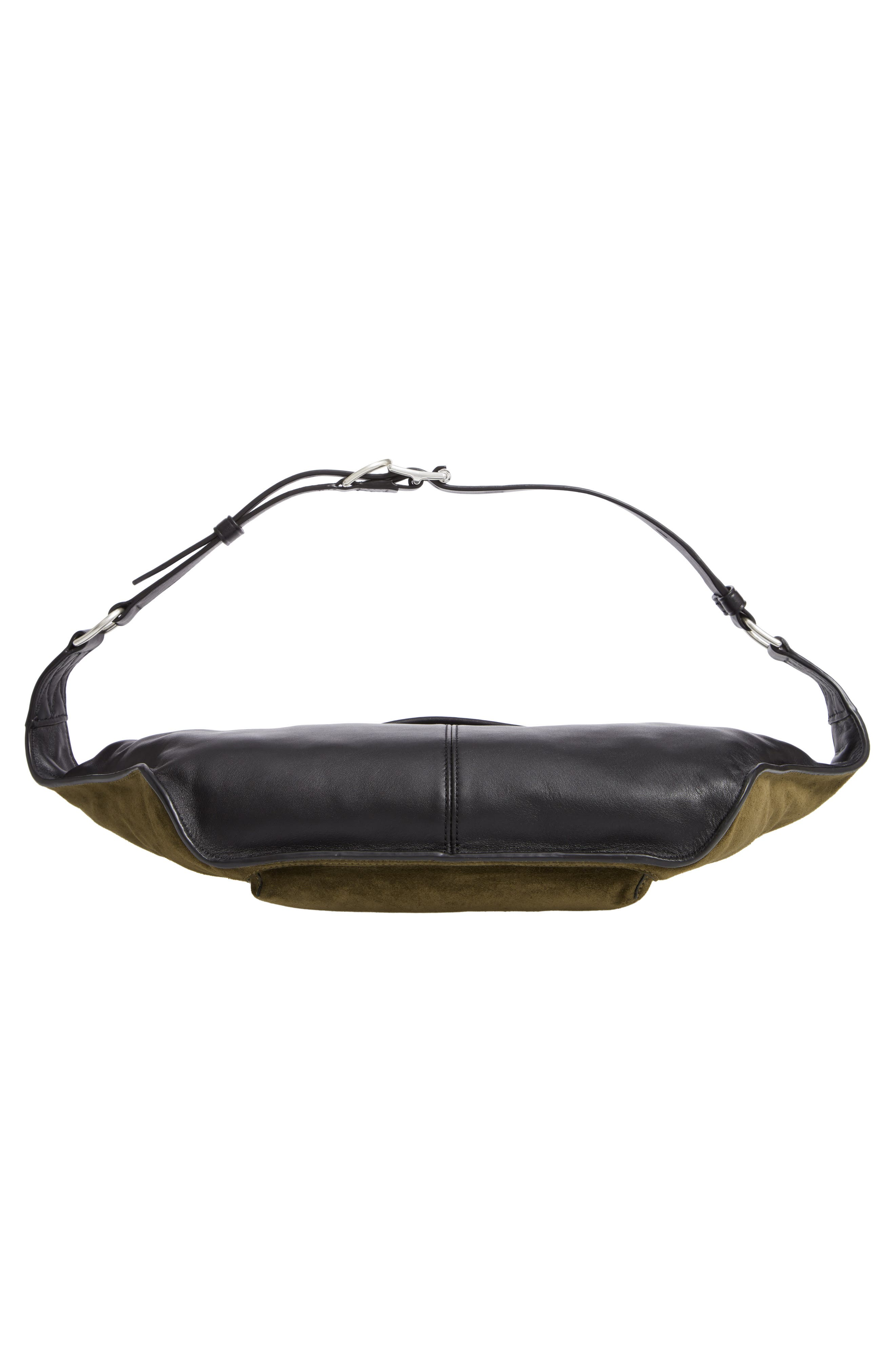 Large Elliot Genuine Calf Hair Fanny Pack,                             Alternate thumbnail 7, color,                             OLIVE SUEDE