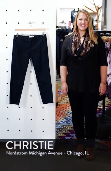 East Hampton Stretch Cotton Twill Crop Pants, sales video thumbnail