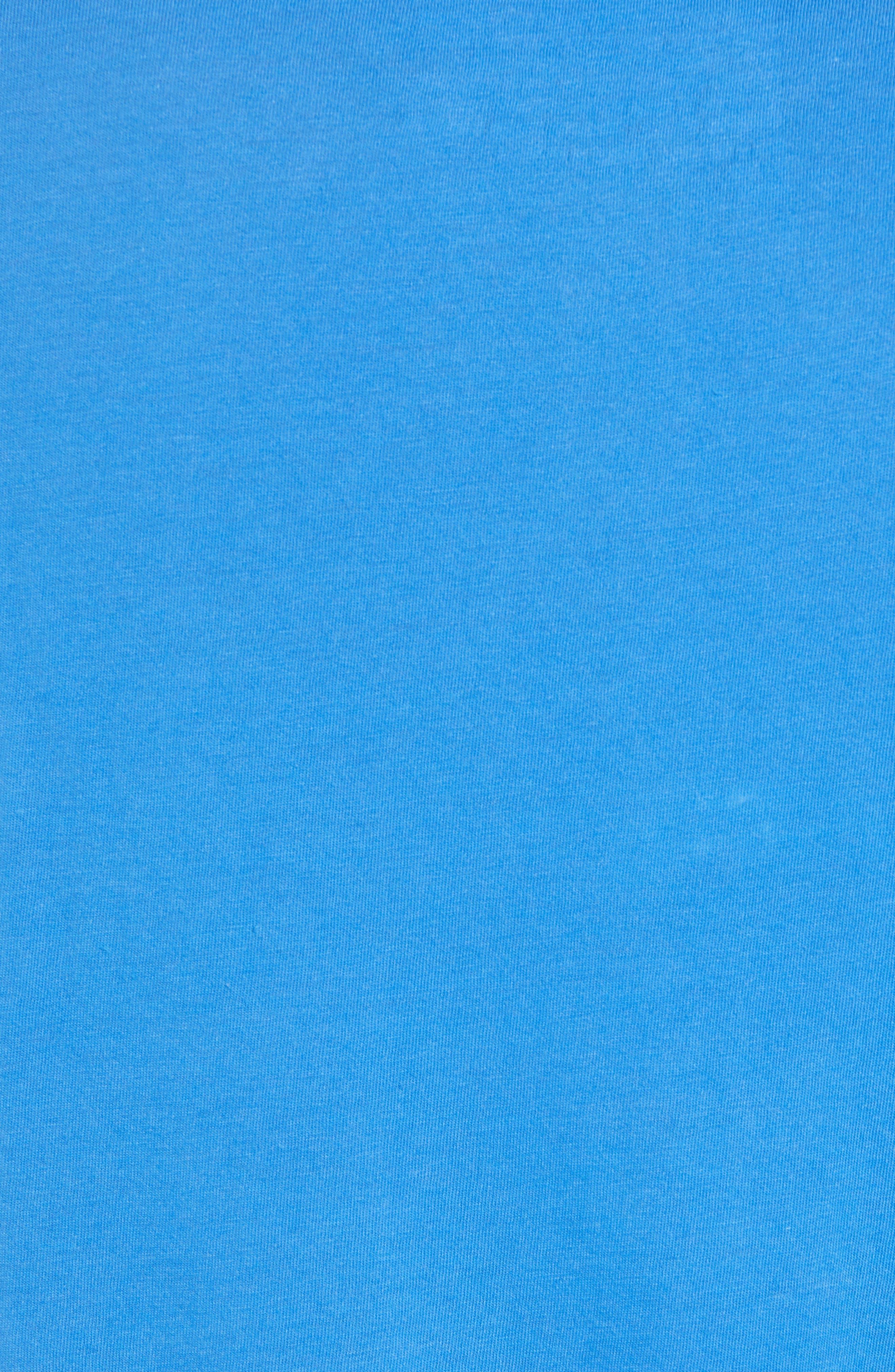 Solid Henley T-Shirt,                             Alternate thumbnail 5, color,                             BLUE BLISS