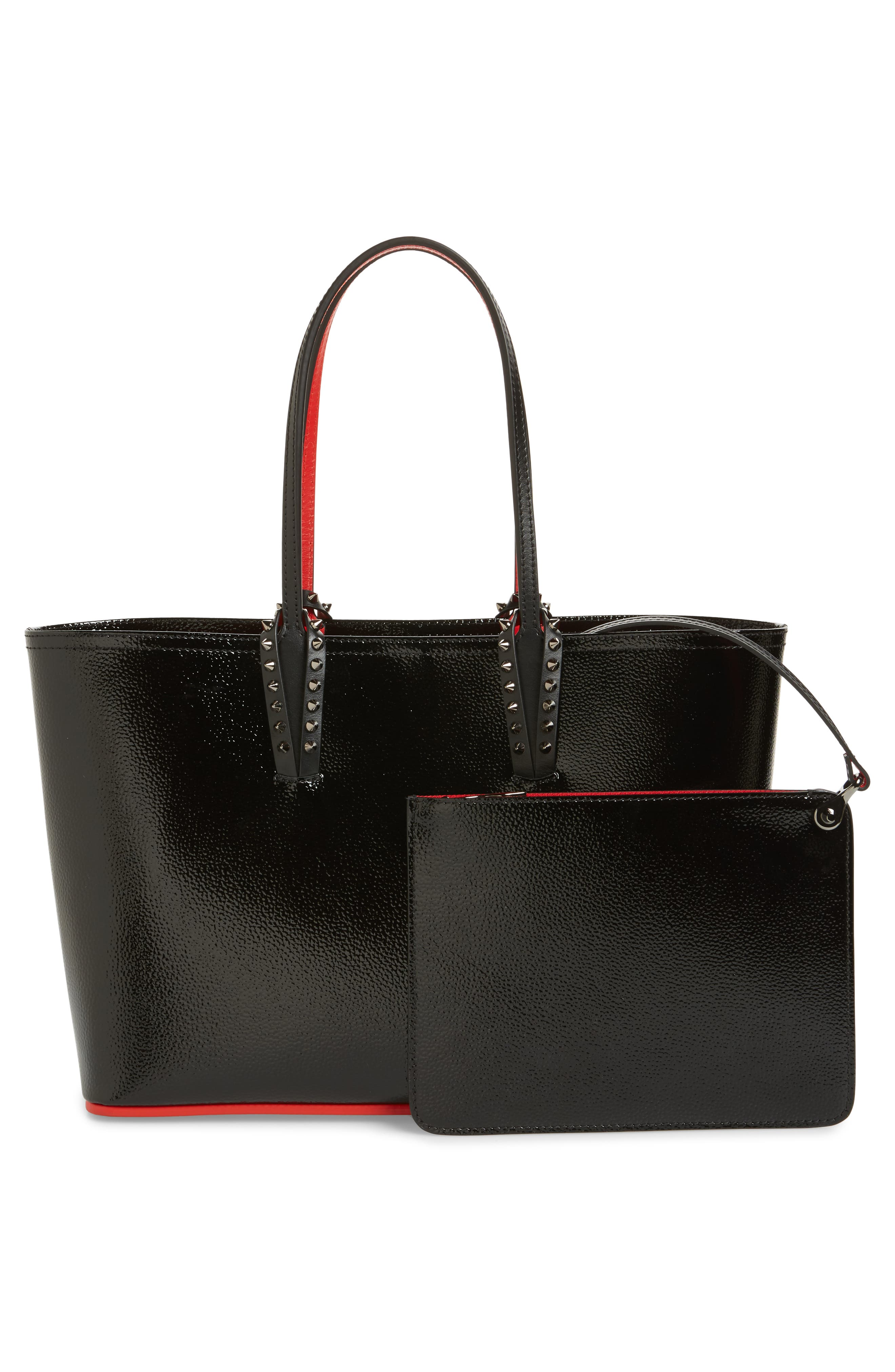 Small Cabata Leather Tote,                             Alternate thumbnail 3, color,                             007