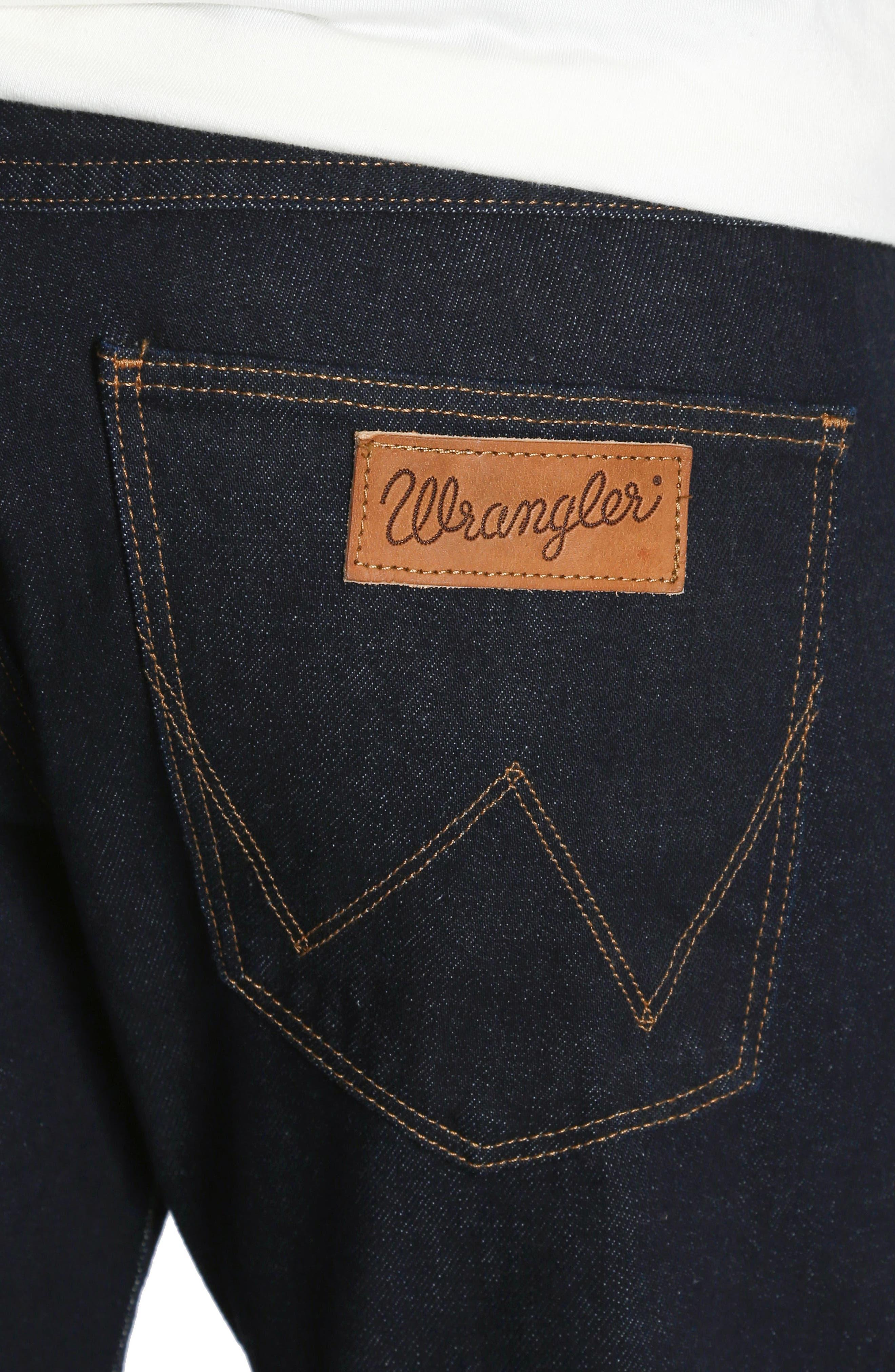 Spencer Selvedge Slim Straight Leg Jeans,                             Alternate thumbnail 4, color,                             468