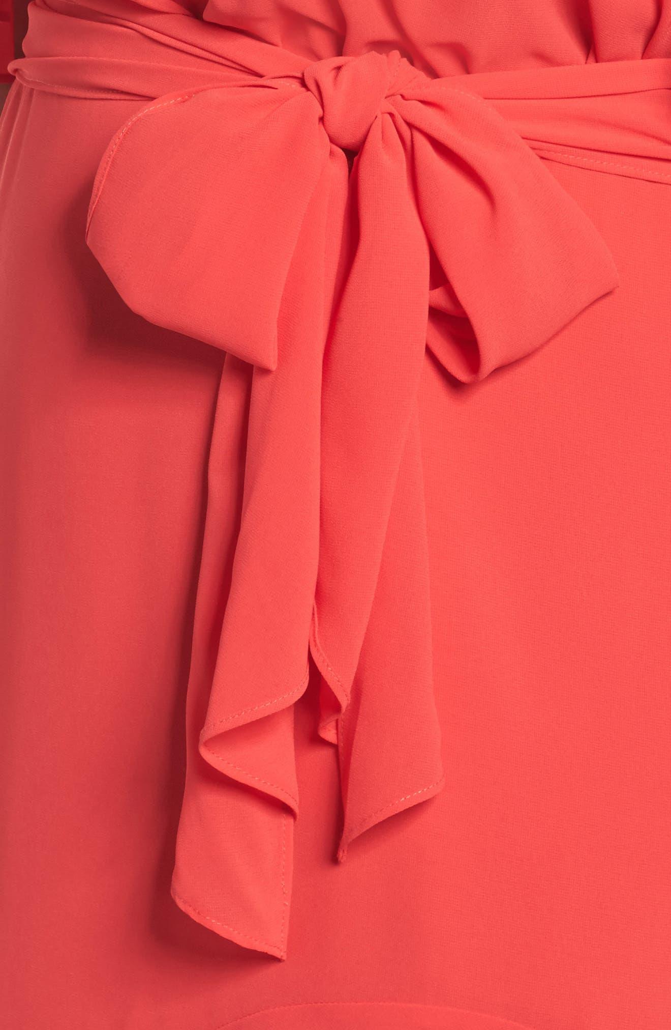 Cold Shoulder Midi Dress,                             Alternate thumbnail 4, color,                             650