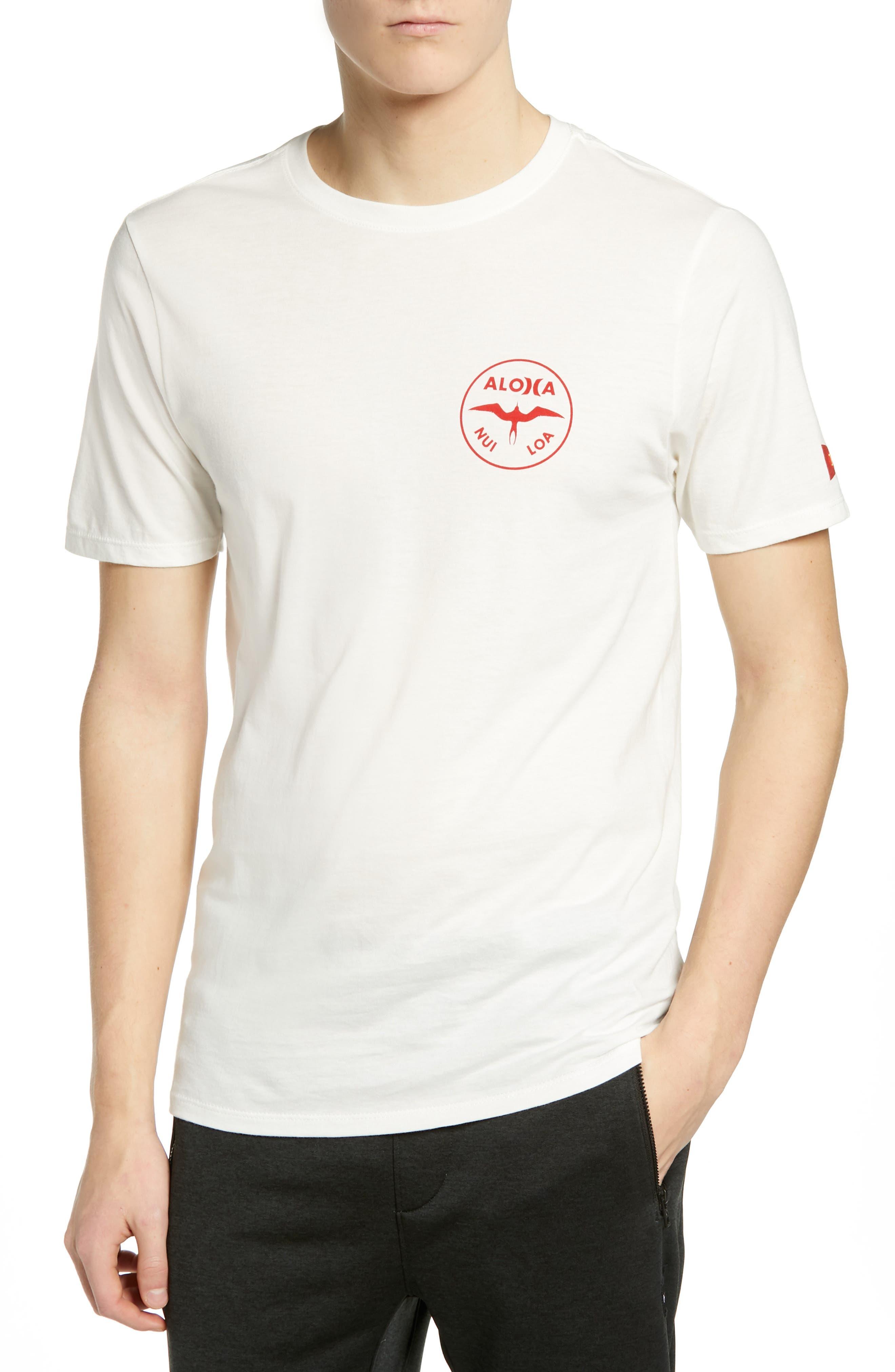 HURLEY Premium Jjf Aloha T-Shirt in Sail