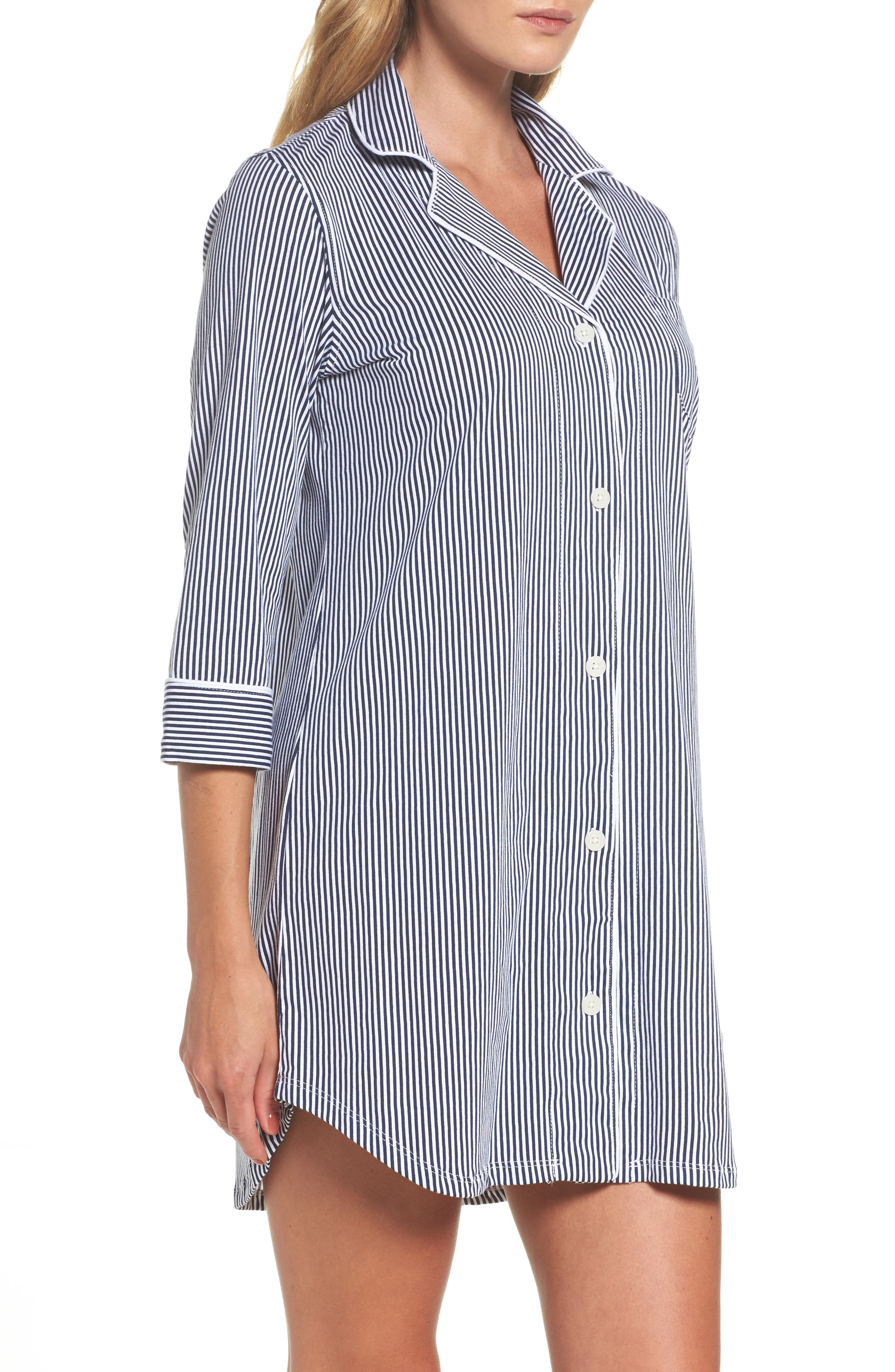 Jersey Sleep Shirt,                             Alternate thumbnail 26, color,