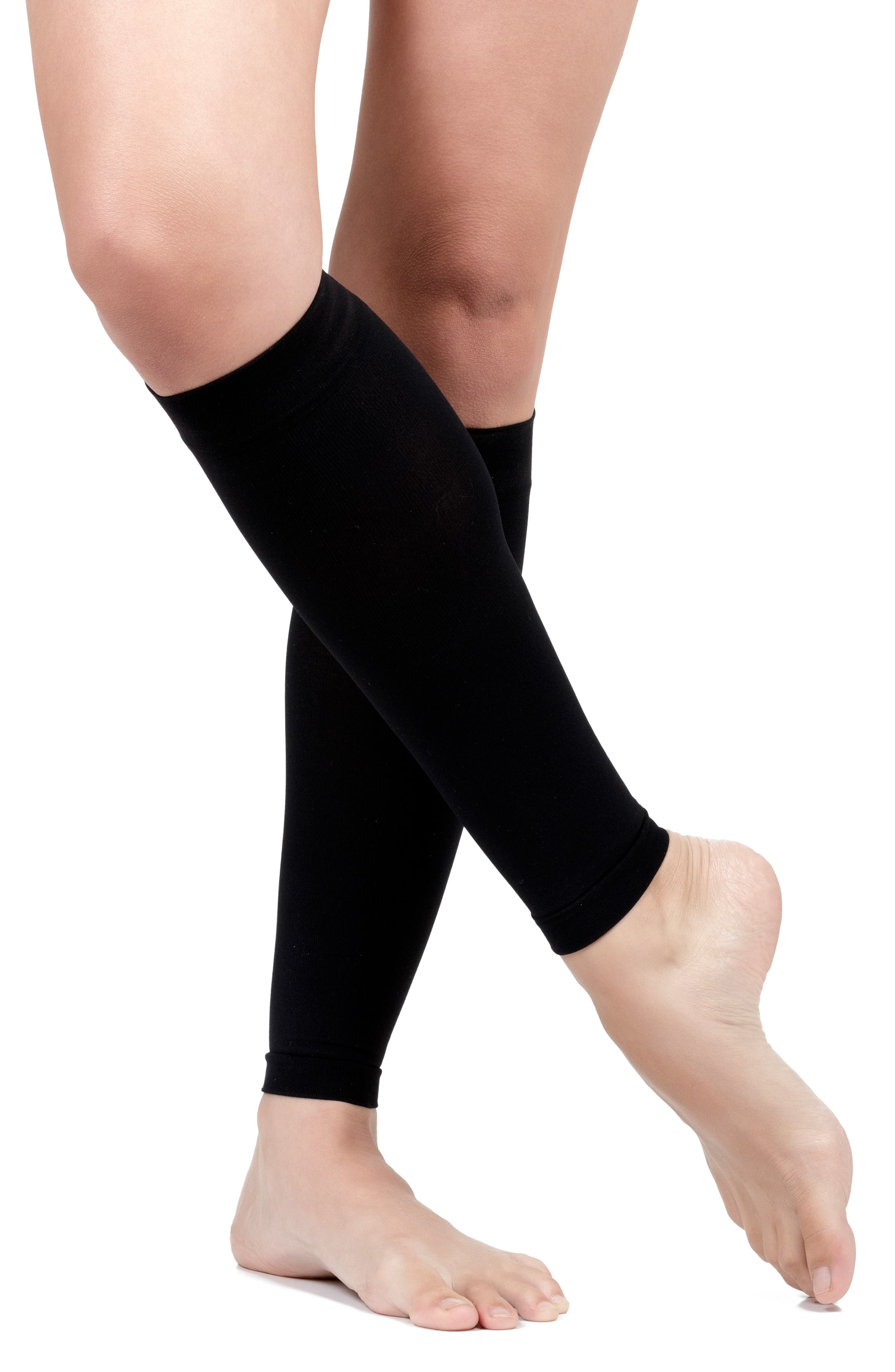 Compression Calf Sleeve,                             Alternate thumbnail 4, color,                             BLACK