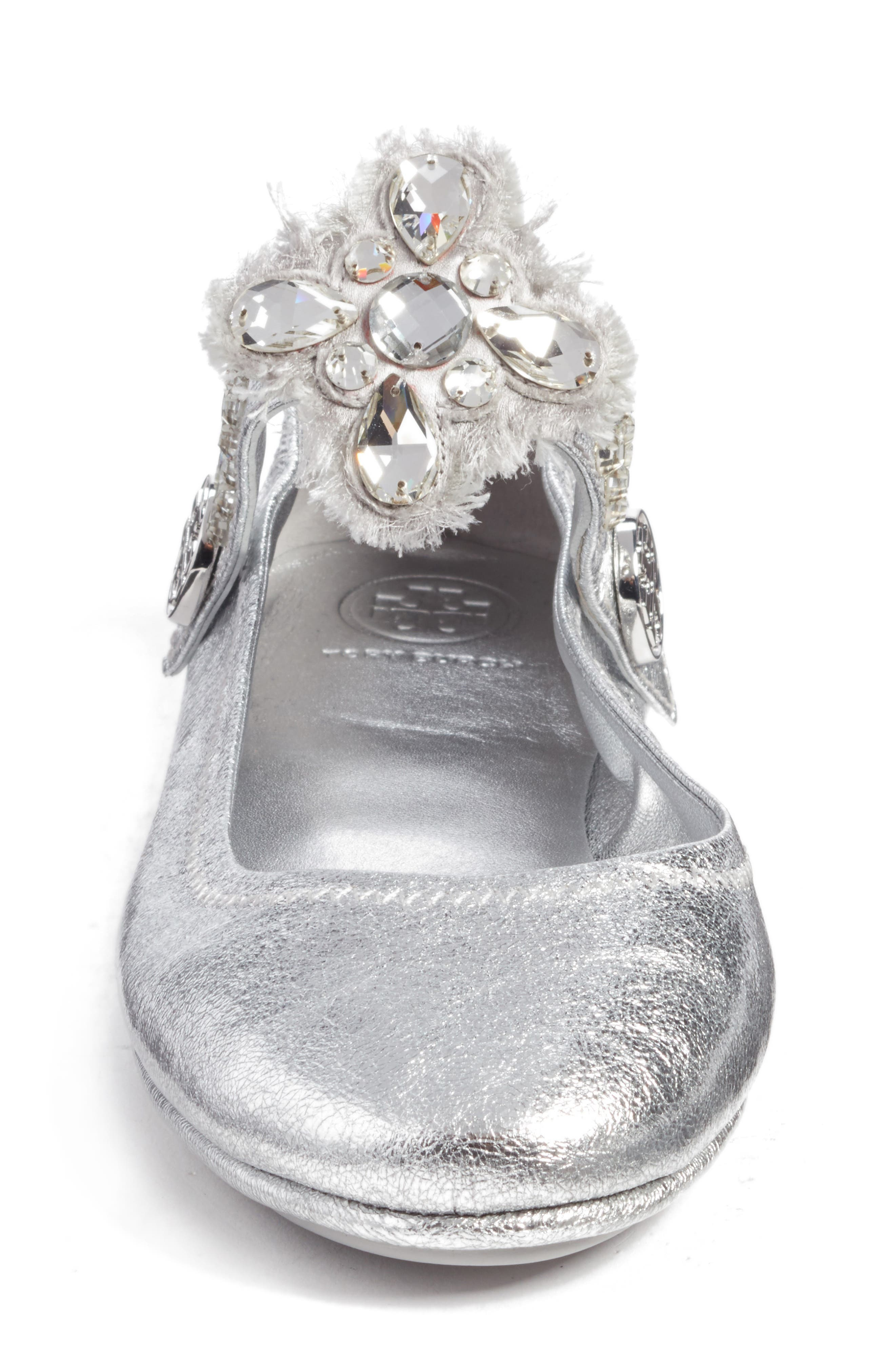 Minnie Embellished Convertible Strap Ballet Flat,                             Alternate thumbnail 14, color,