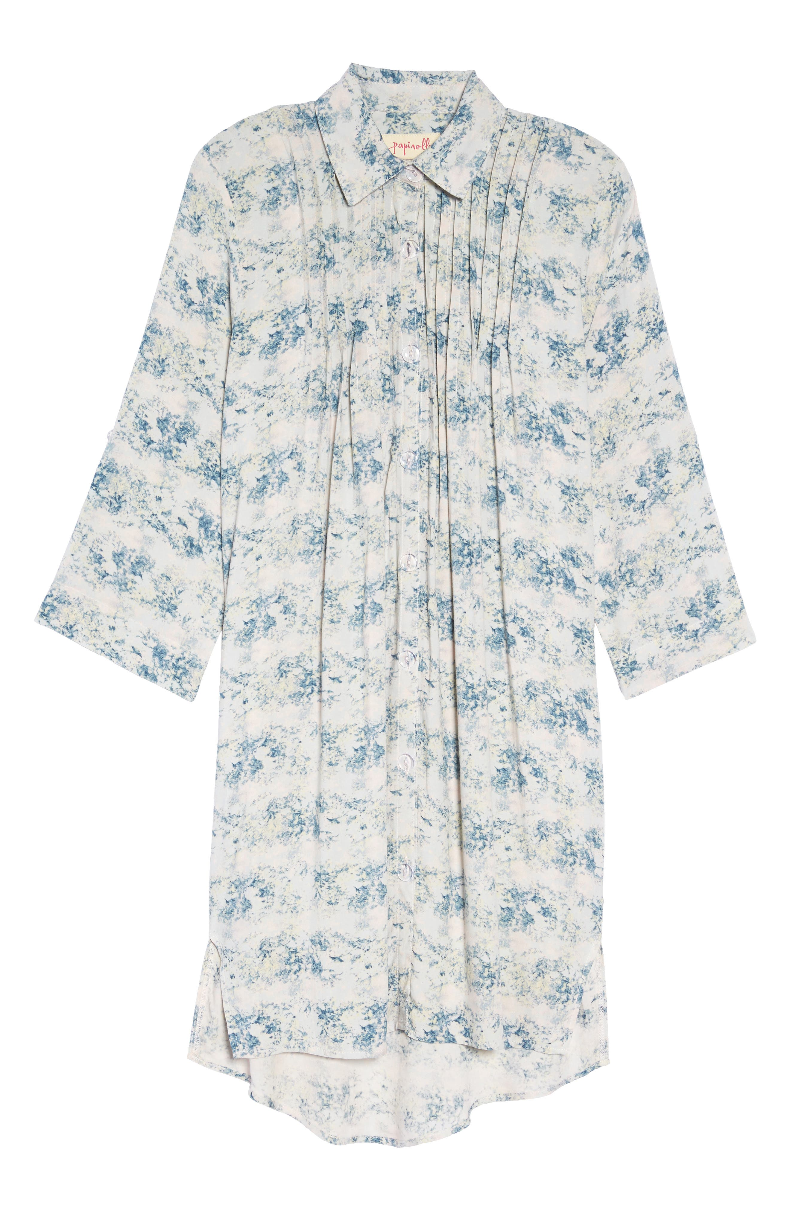 Floral Print Sleep Shirt,                             Alternate thumbnail 6, color,                             403