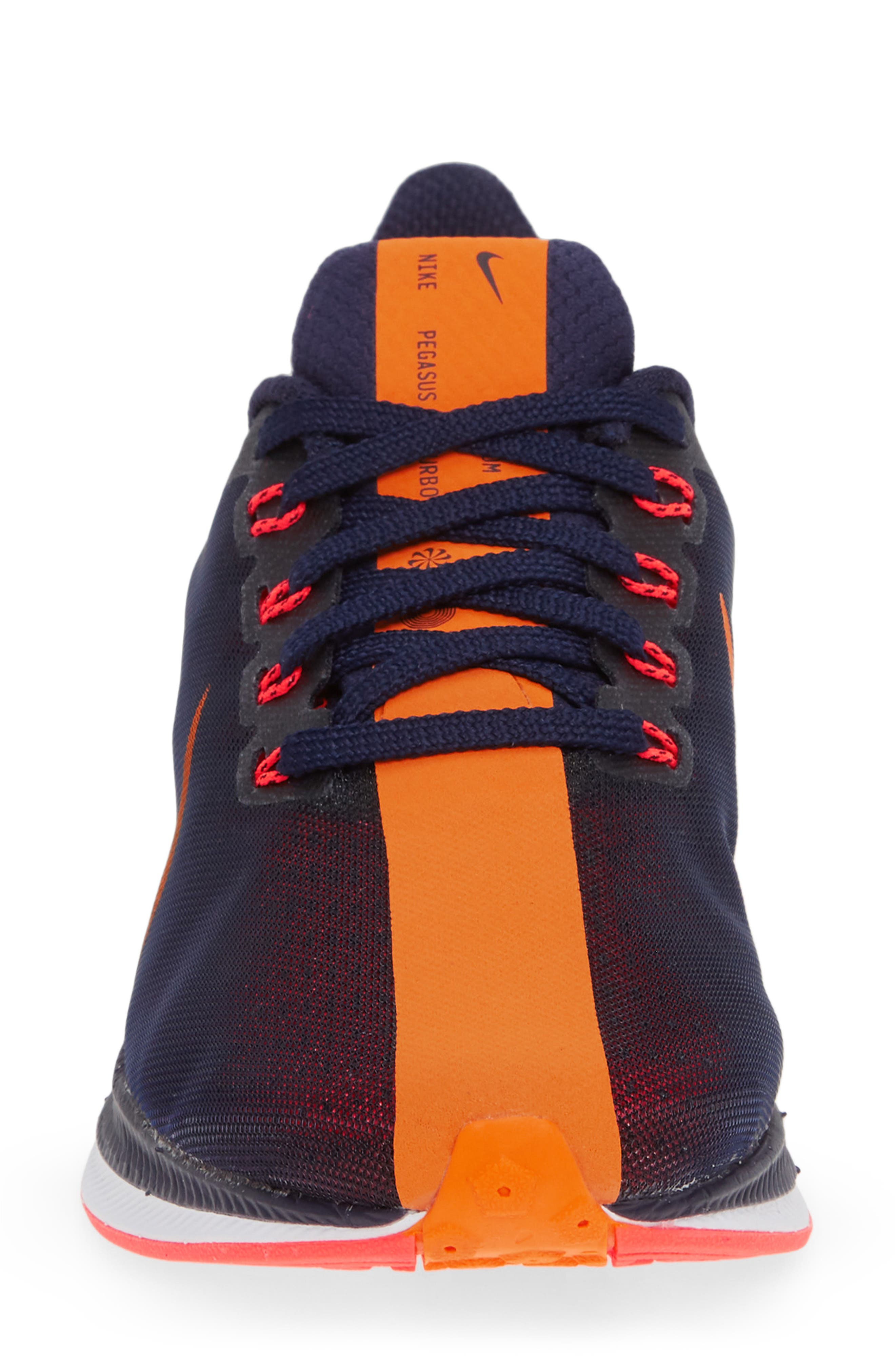 Zoom Pegasus 35 Turbo Running Shoe,                             Alternate thumbnail 4, color,                             BLACKENED BLUE/ CRIMSON/ BLACK