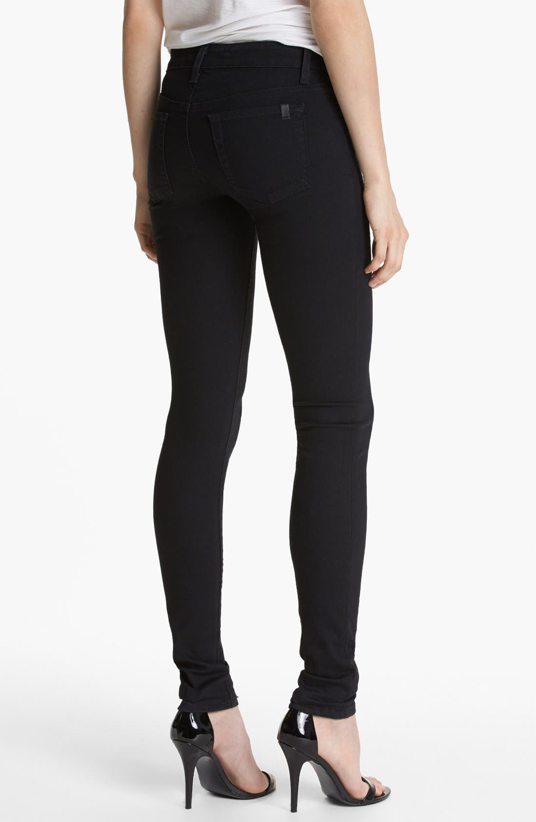 Skinny Stretch Jeans,                             Alternate thumbnail 4, color,                             001