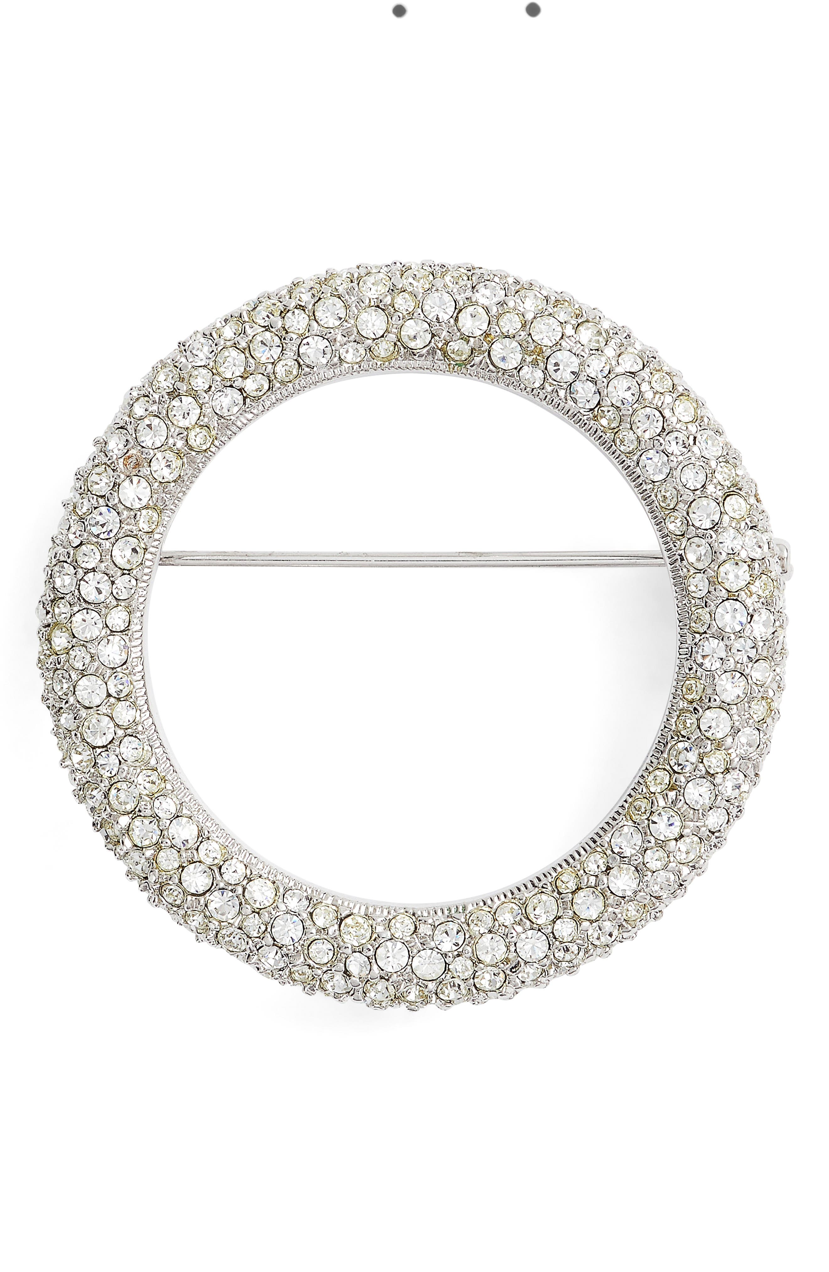 1930s Outfit Ideas for Women Womens Nadri Pave Circle Brooch $78.00 AT vintagedancer.com