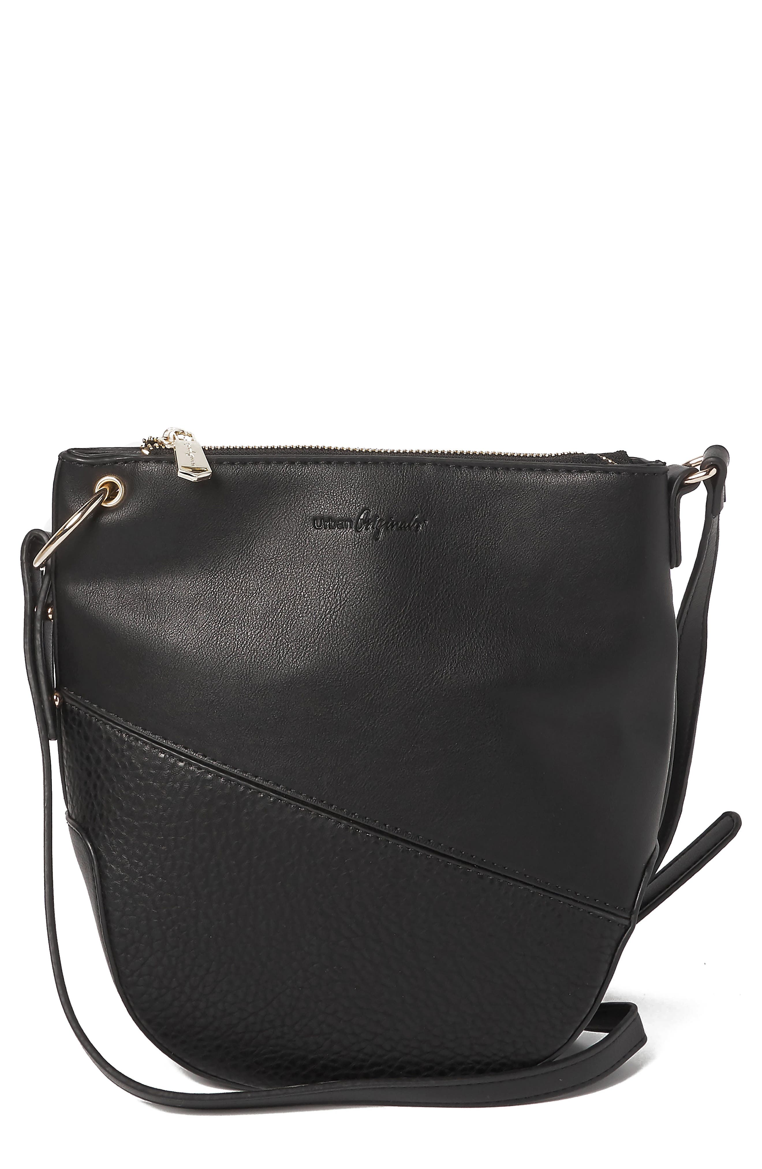 Escape Vegan Leather Bucket Bag,                         Main,                         color, BLACK