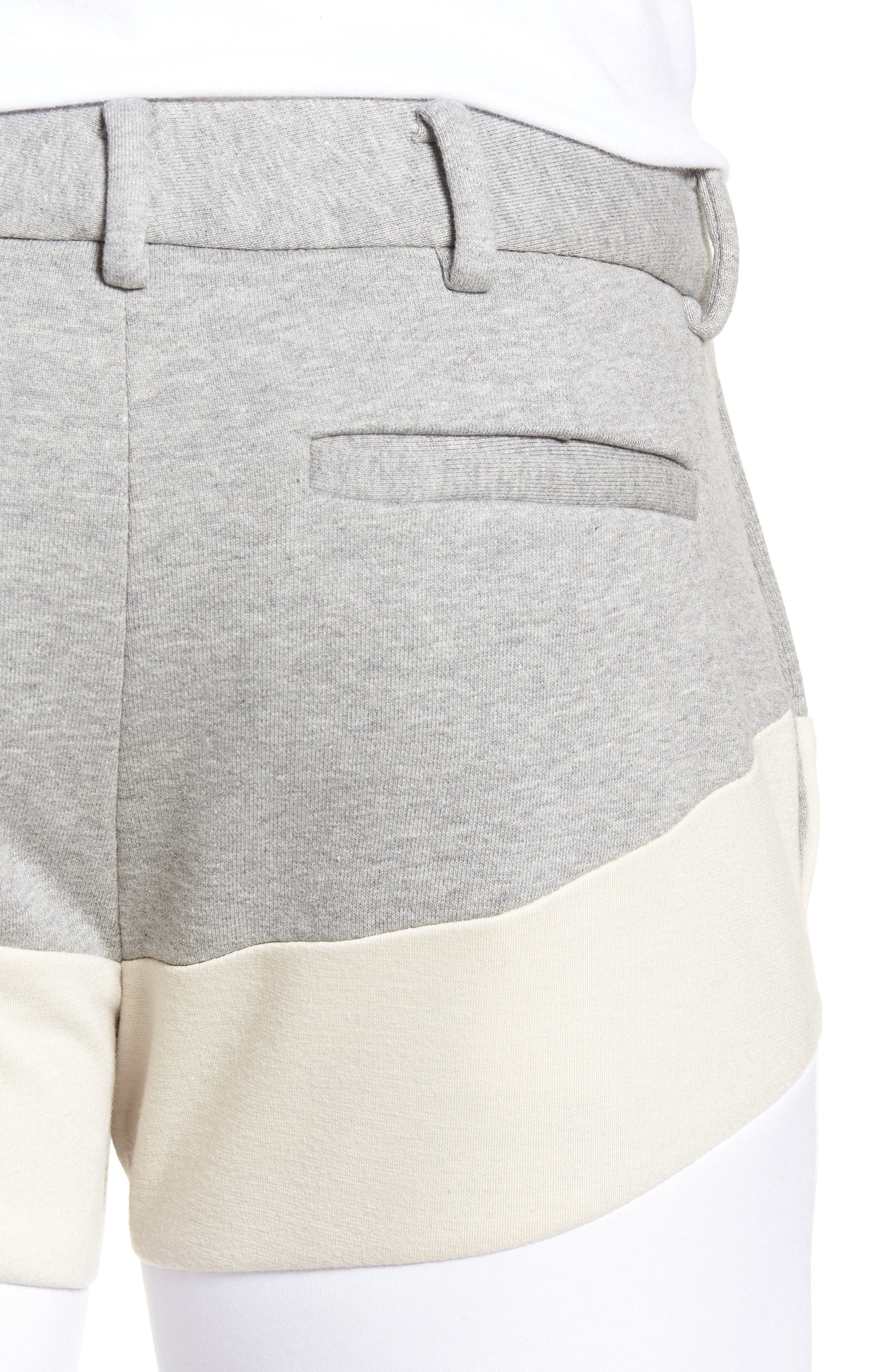 Chevron Colorblock Shorts,                             Alternate thumbnail 4, color,                             HEATHER GREY