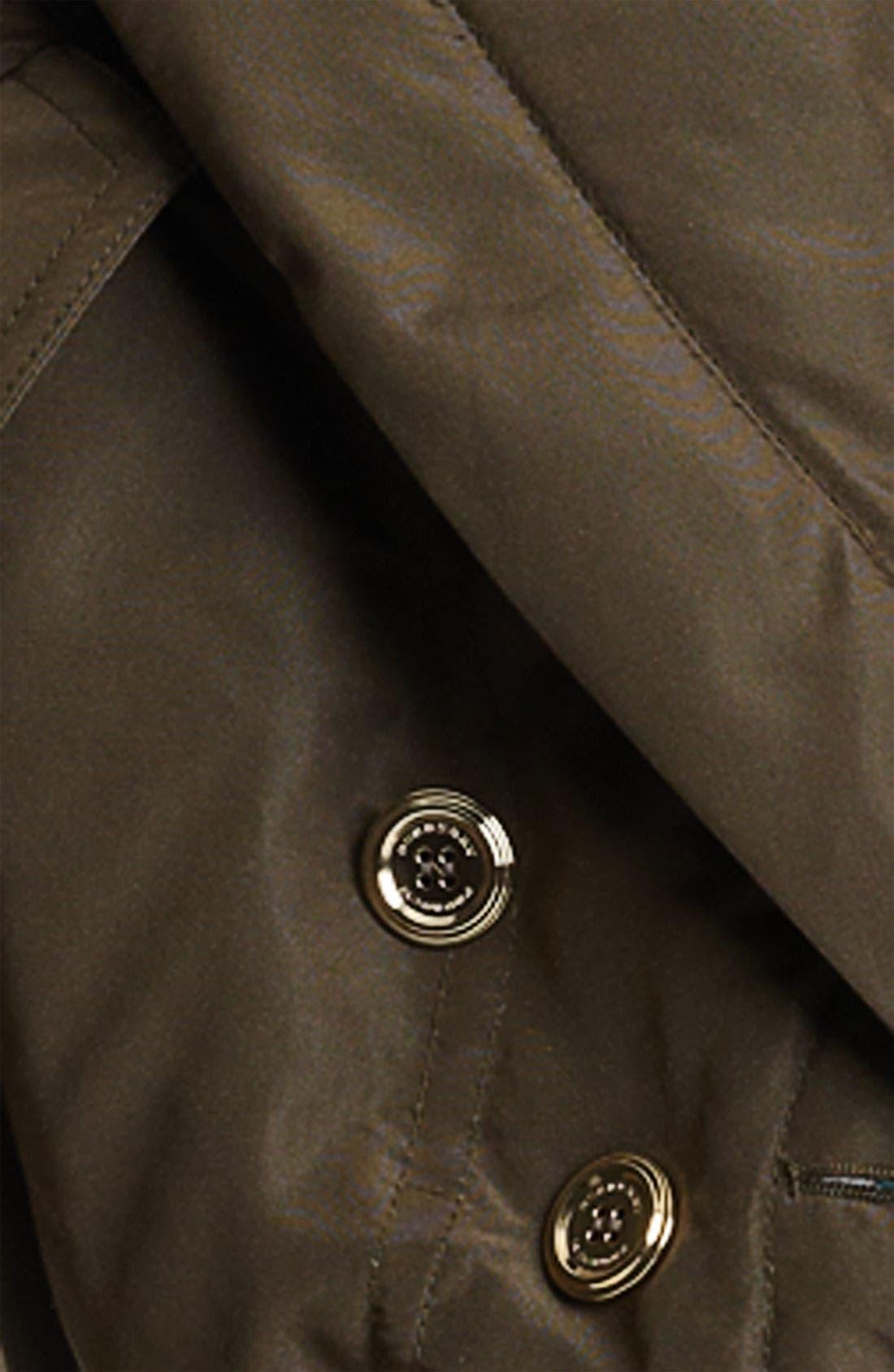 Mulberry Silk Crop Puffer Jacket,                             Alternate thumbnail 3, color,                             305