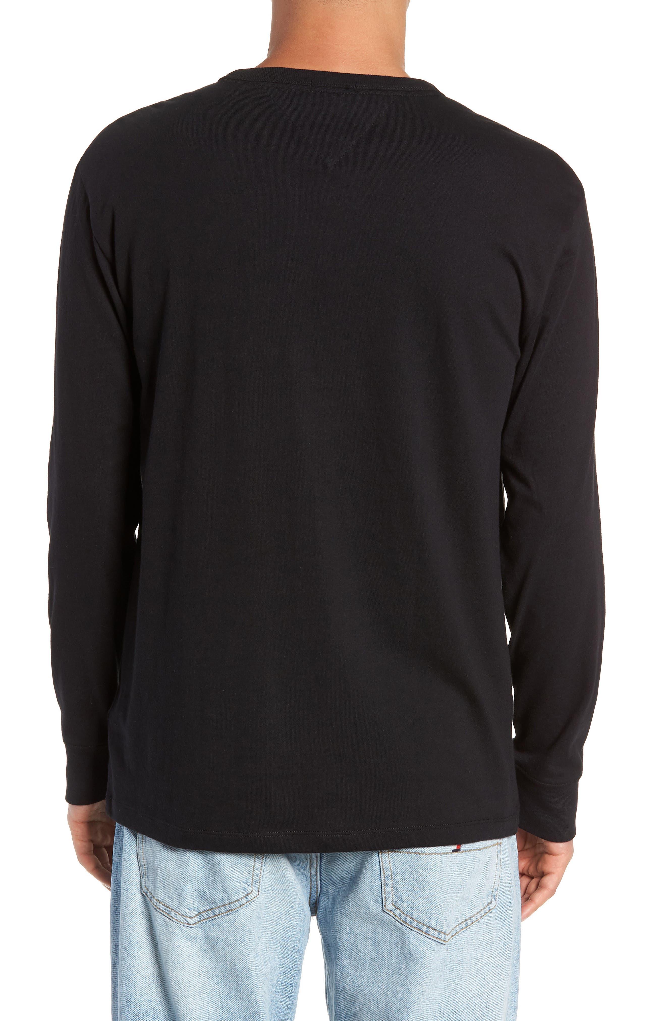 TJM Logo Graphic Long Sleeve T-Shirt,                             Alternate thumbnail 2, color,                             TOMMY BLACK