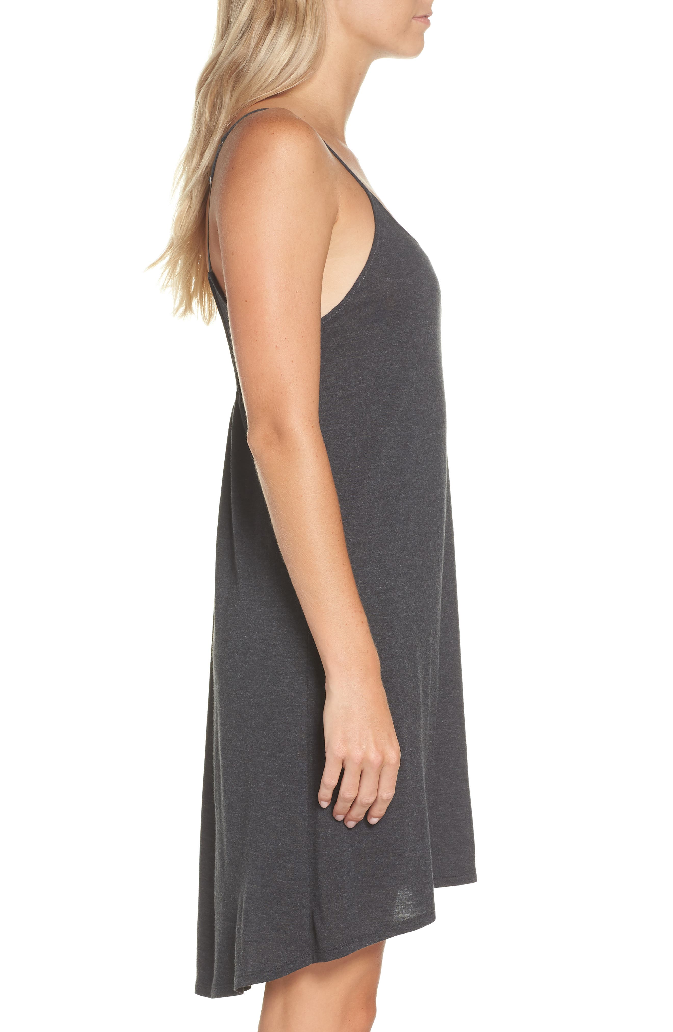 Heather Tees Chemise,                             Alternate thumbnail 3, color,                             HEATHER GRANITE