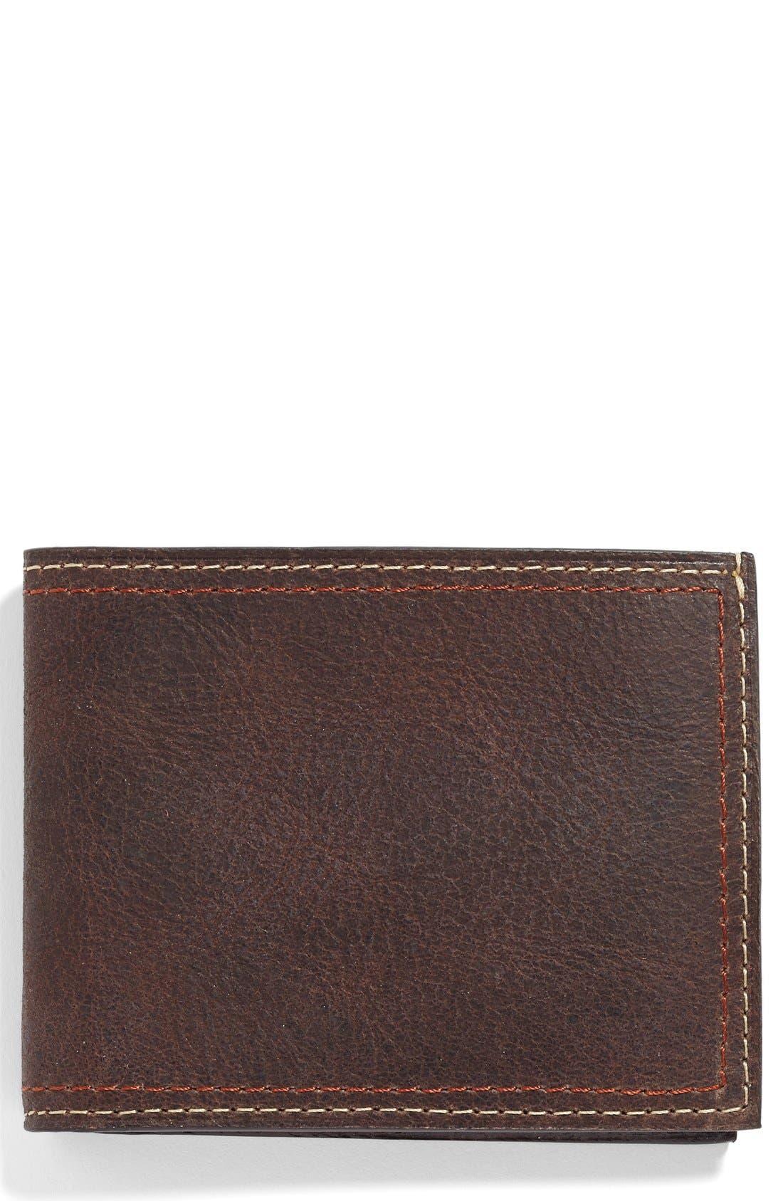Water Buffalo Leather Wallet,                             Main thumbnail 1, color,                             203