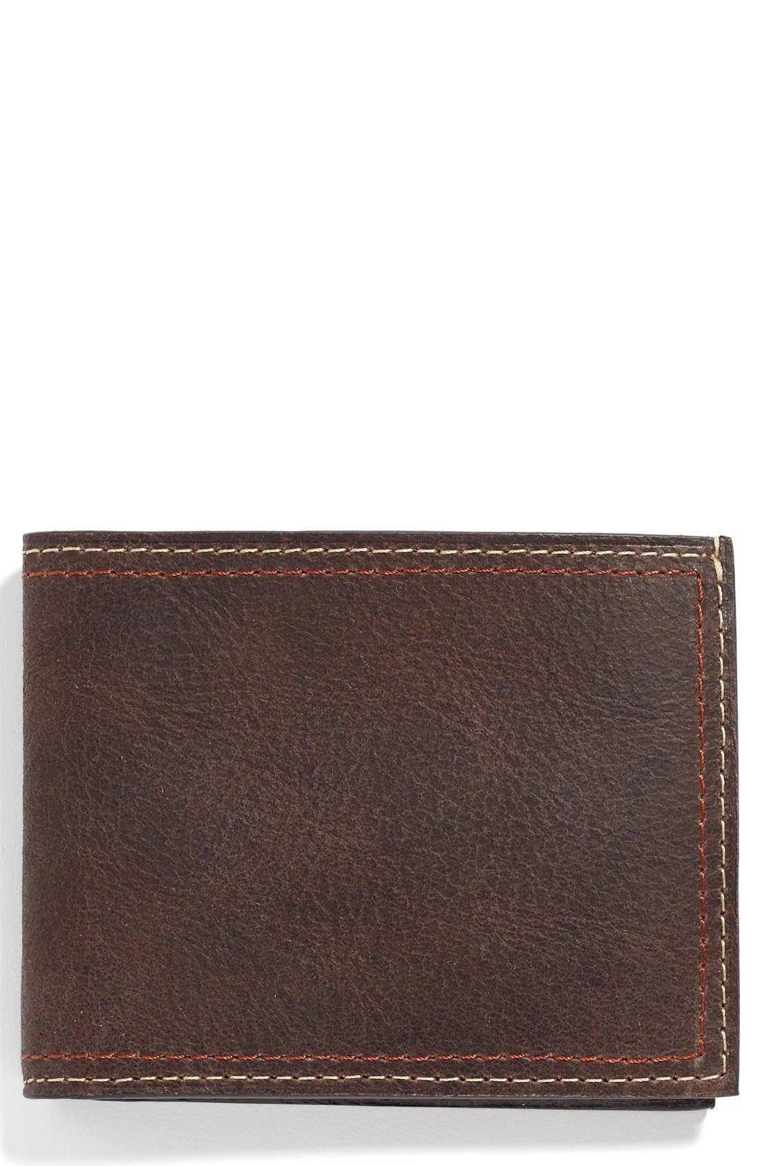 Water Buffalo Leather Wallet,                         Main,                         color, 203