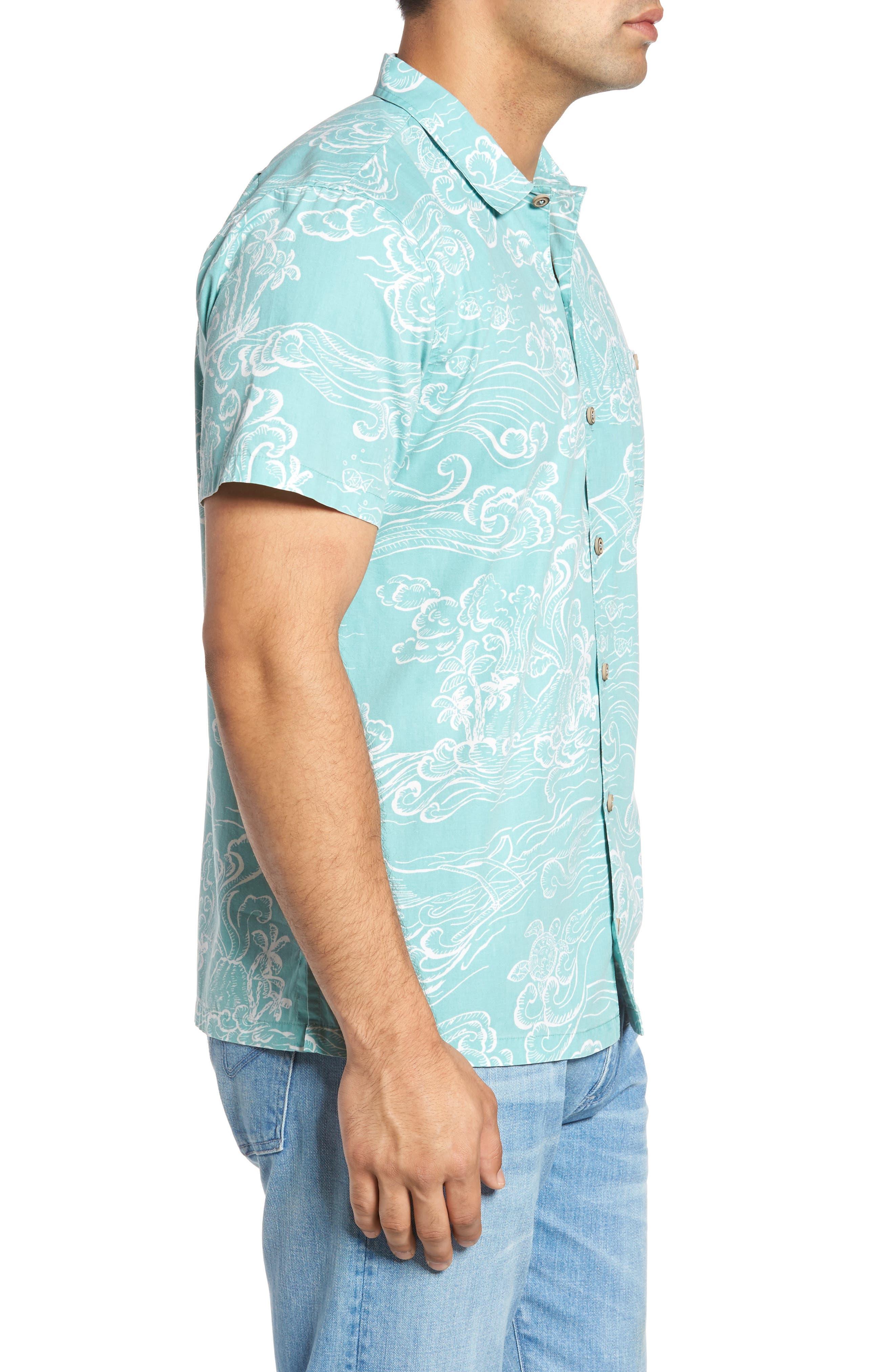 Pele Classic Fit Print Camp Shirt,                             Alternate thumbnail 3, color,                             439