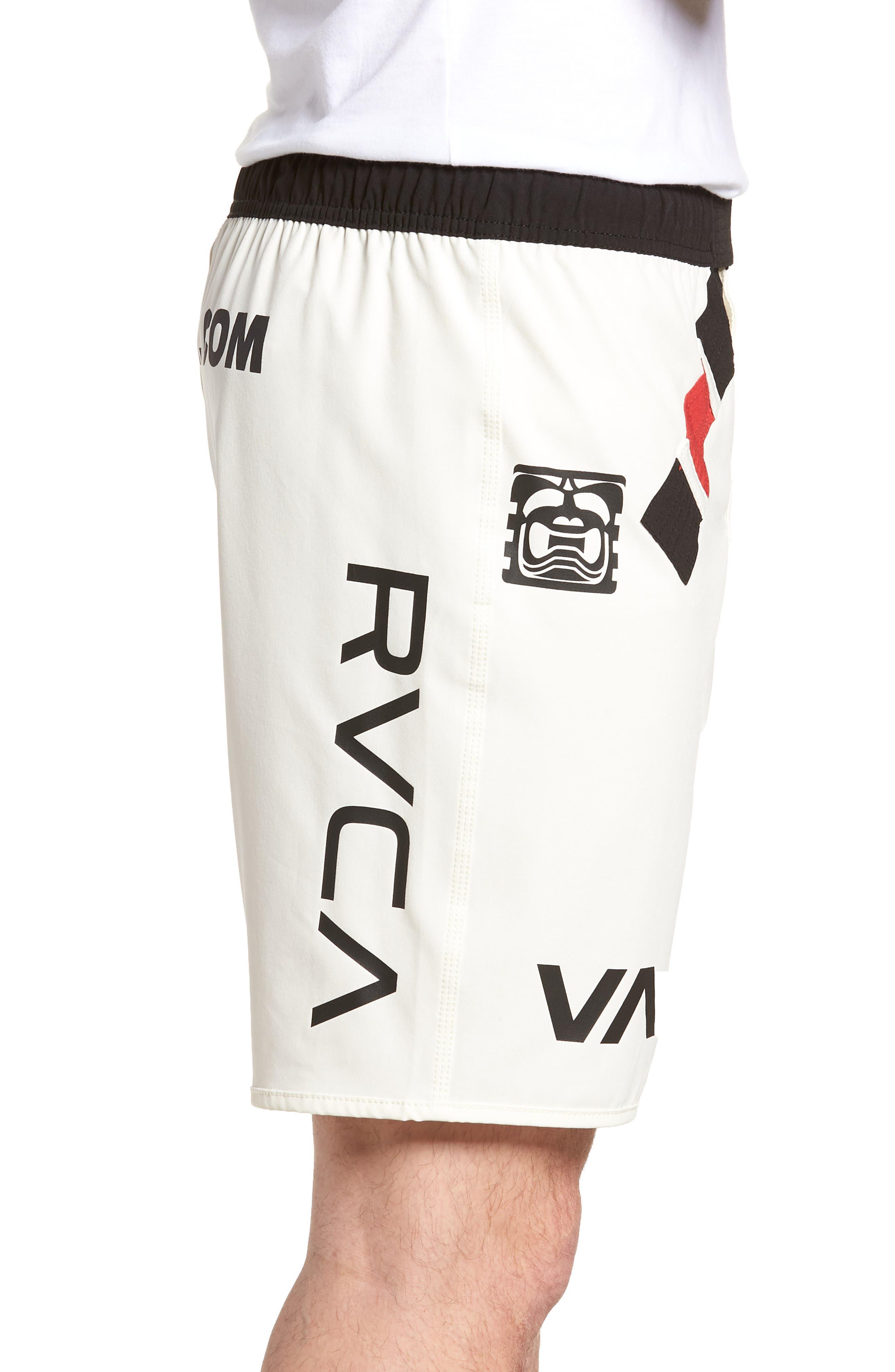 BJ Penn Legend Shorts,                             Alternate thumbnail 3, color,                             WHITE