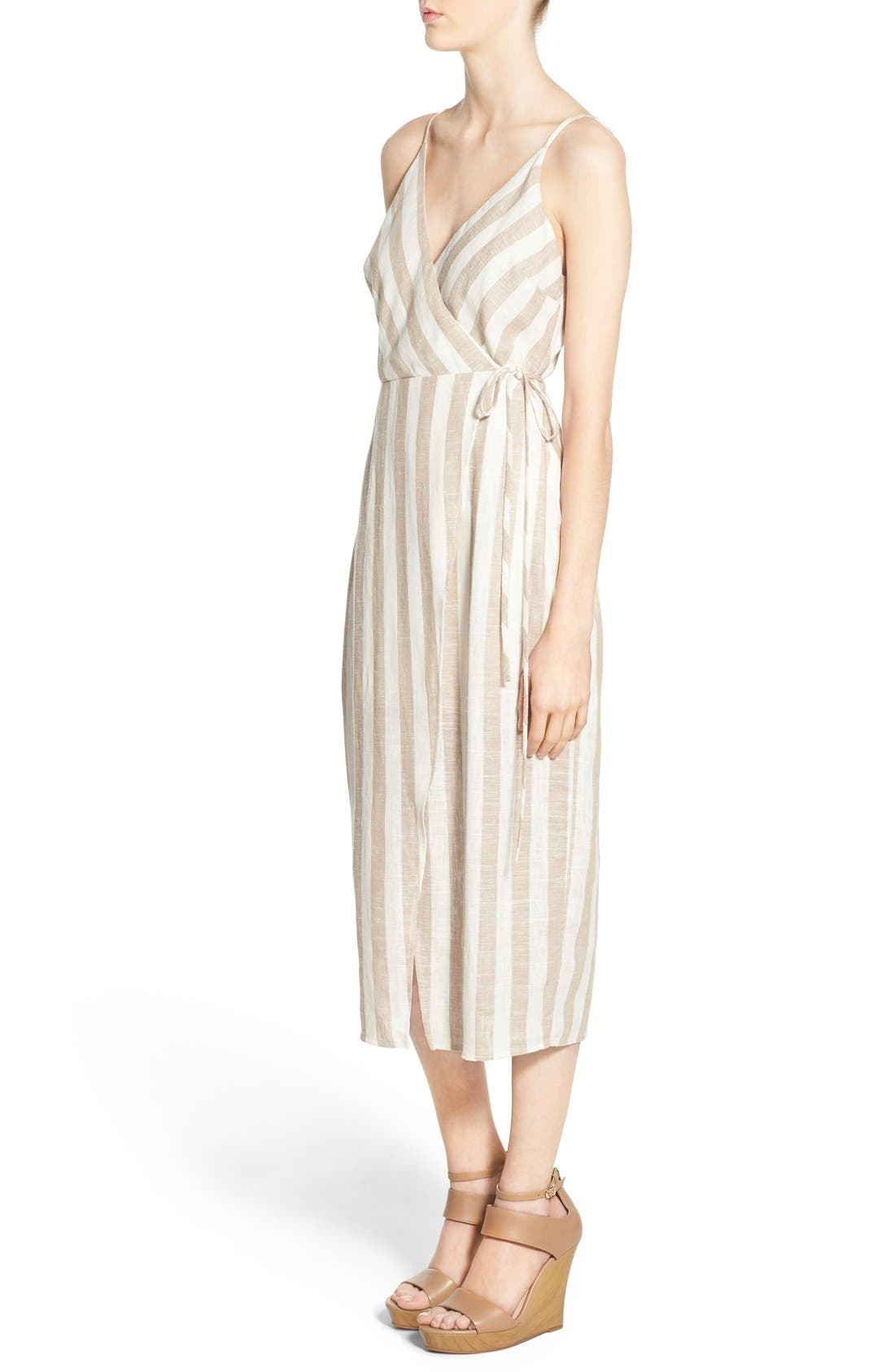 ASTR THE LABEL,                             ASTR Linen Blend Wrap Dress,                             Alternate thumbnail 2, color,                             250