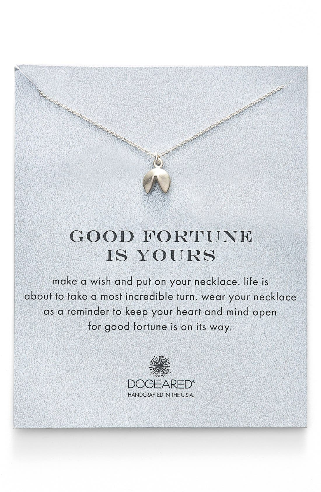 Fortune Cookie Pendant Necklace,                             Main thumbnail 1, color,                             040