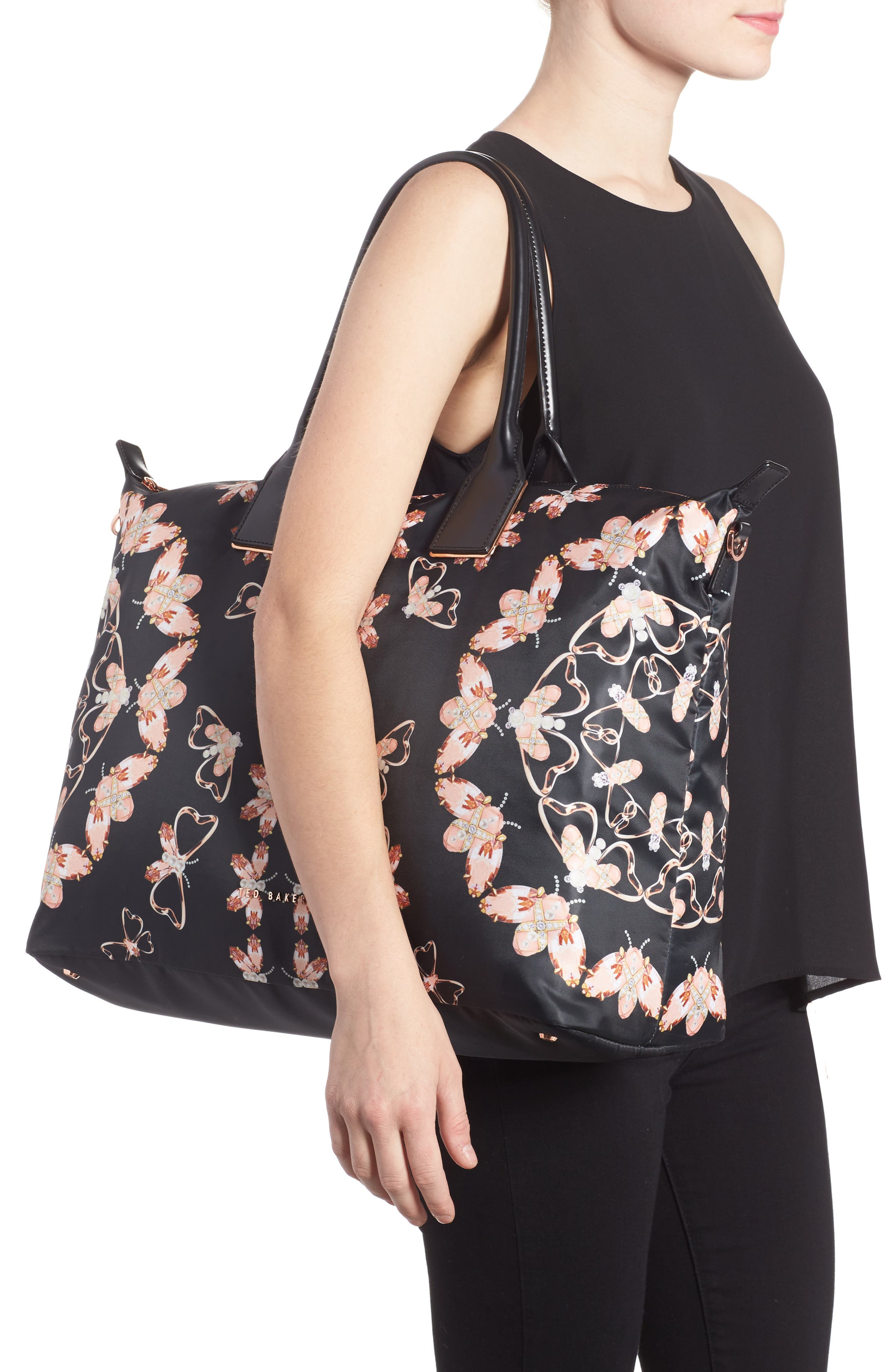Large Ezora Queen Bee Tote,                             Alternate thumbnail 2, color,