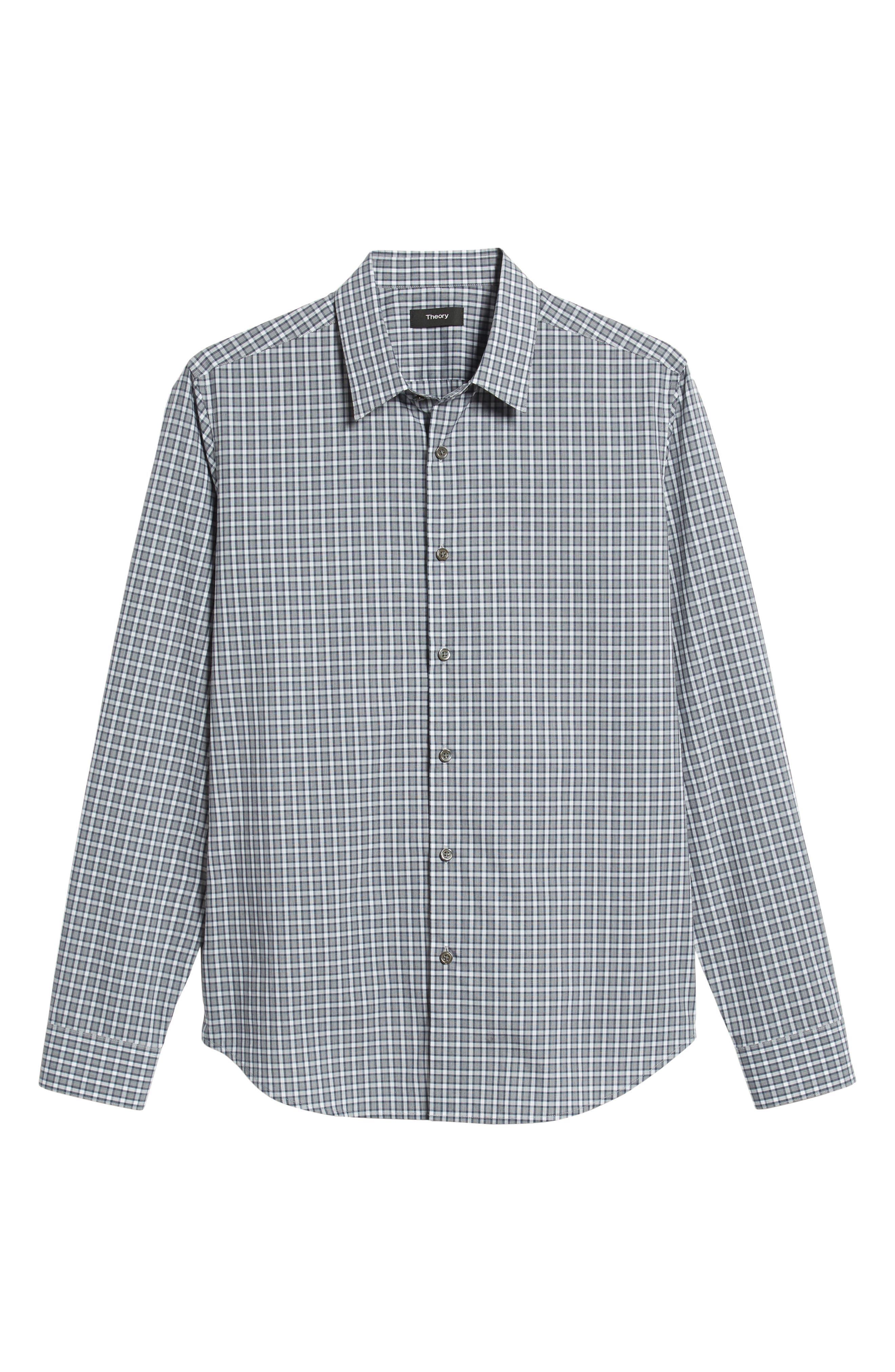 Sylvain Regular Fit Check Sport Shirt,                             Alternate thumbnail 5, color,                             NAVY MULTI