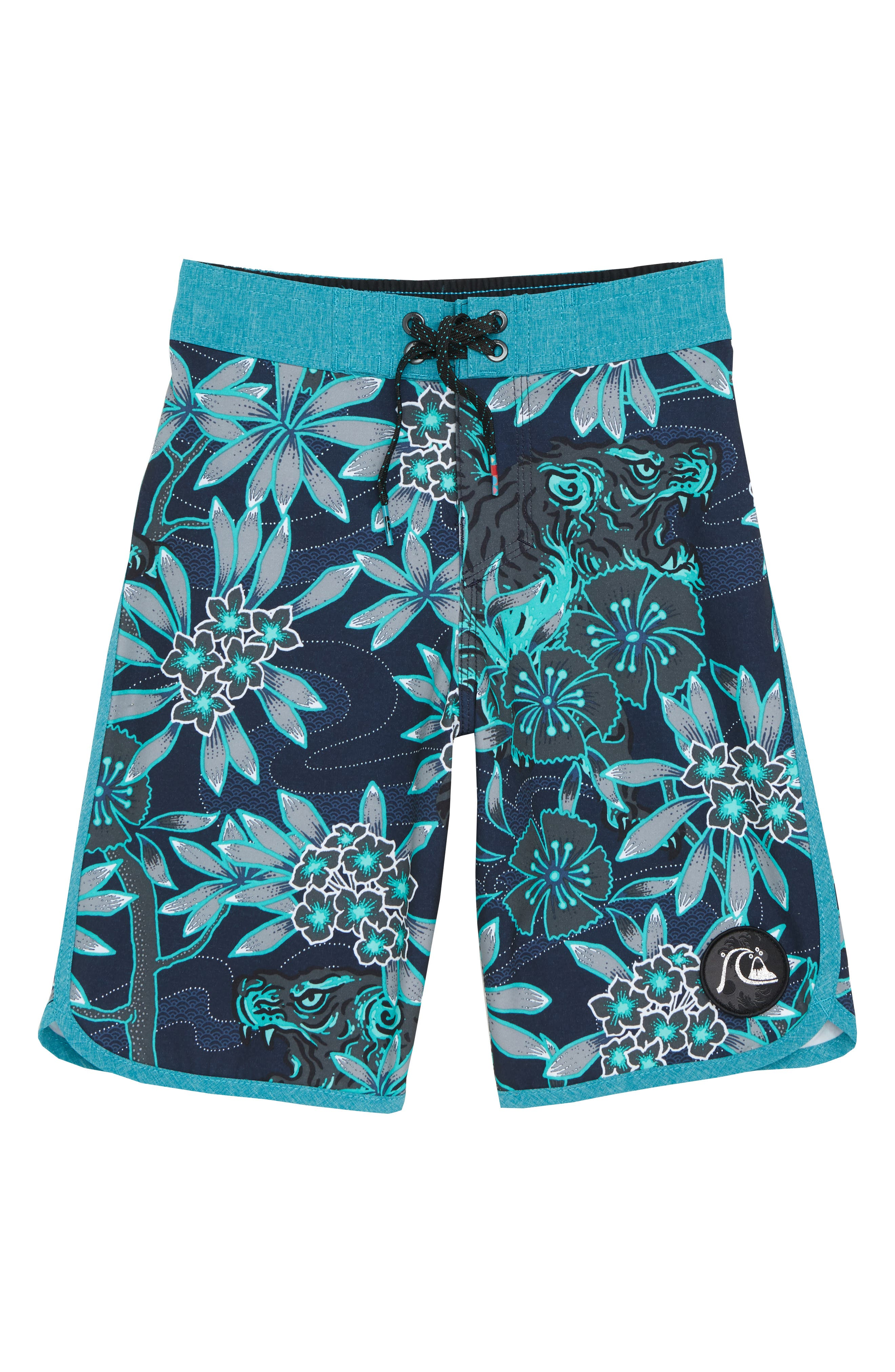 Highline Silent Fury Board Shorts,                         Main,                         color, TYPHOON