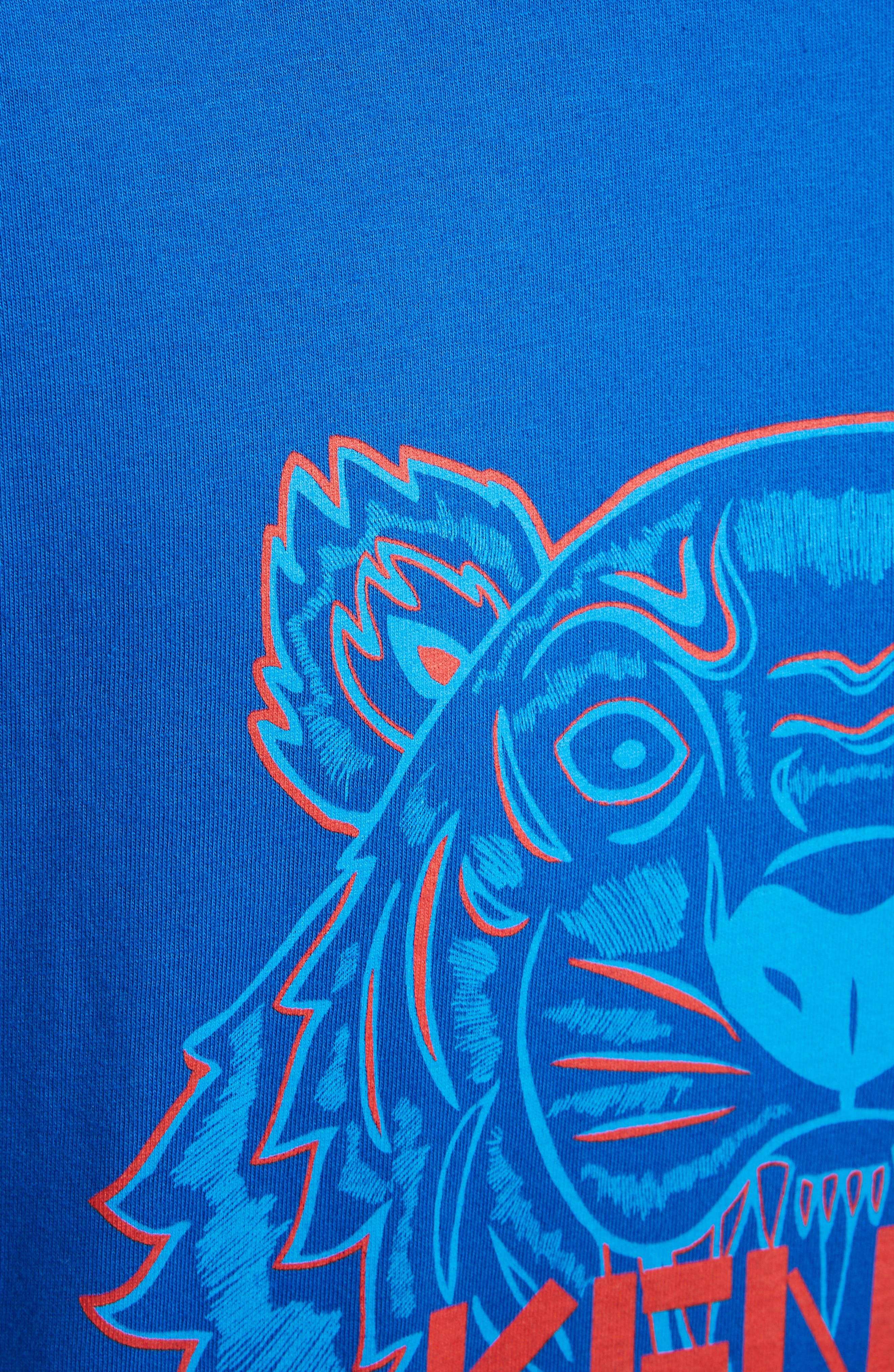 Tiger Graphic T-Shirt,                             Alternate thumbnail 5, color,                             FRENCH BLUE