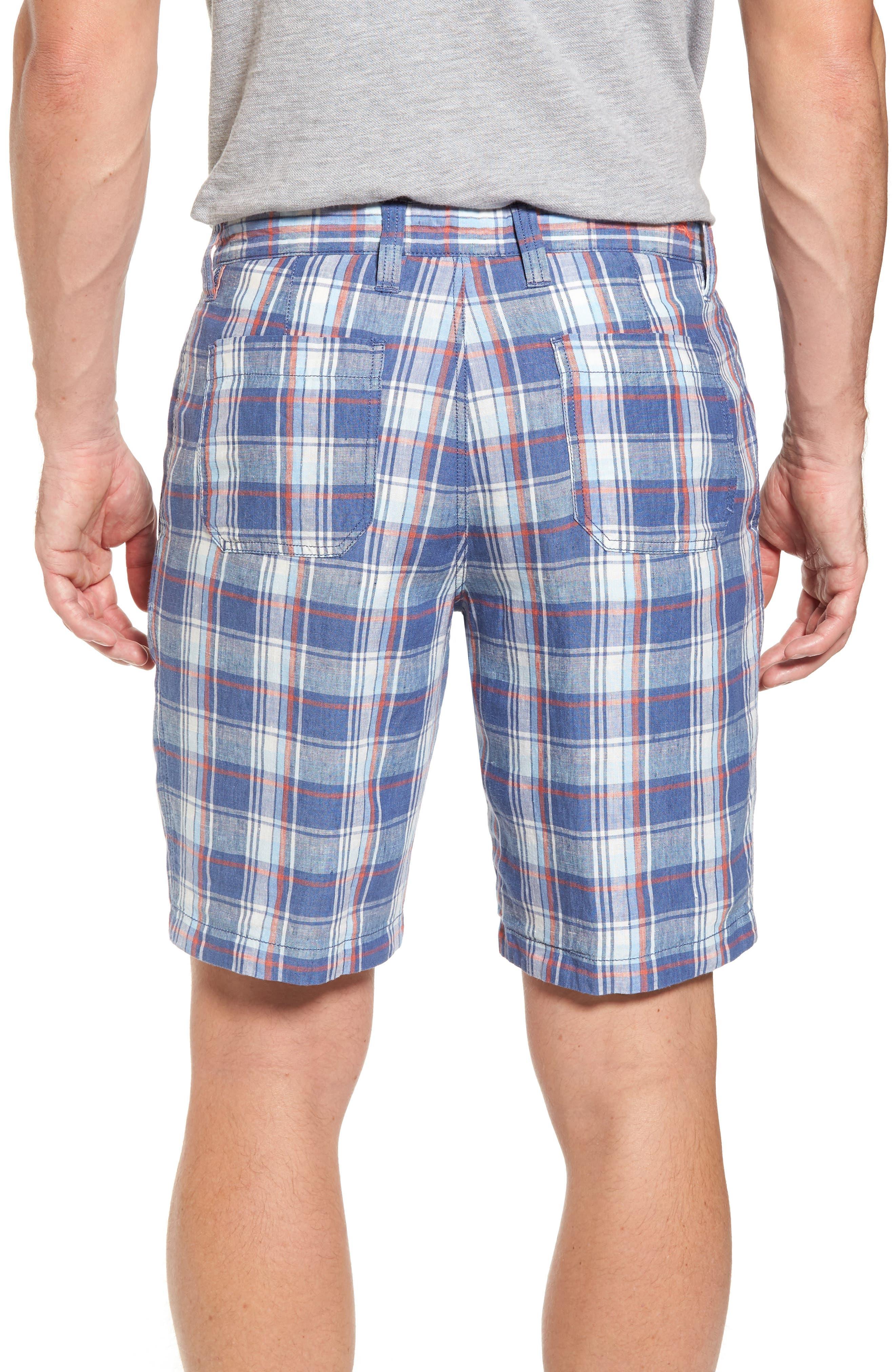 Plaid De Leon Reversible Shorts,                             Alternate thumbnail 6, color,