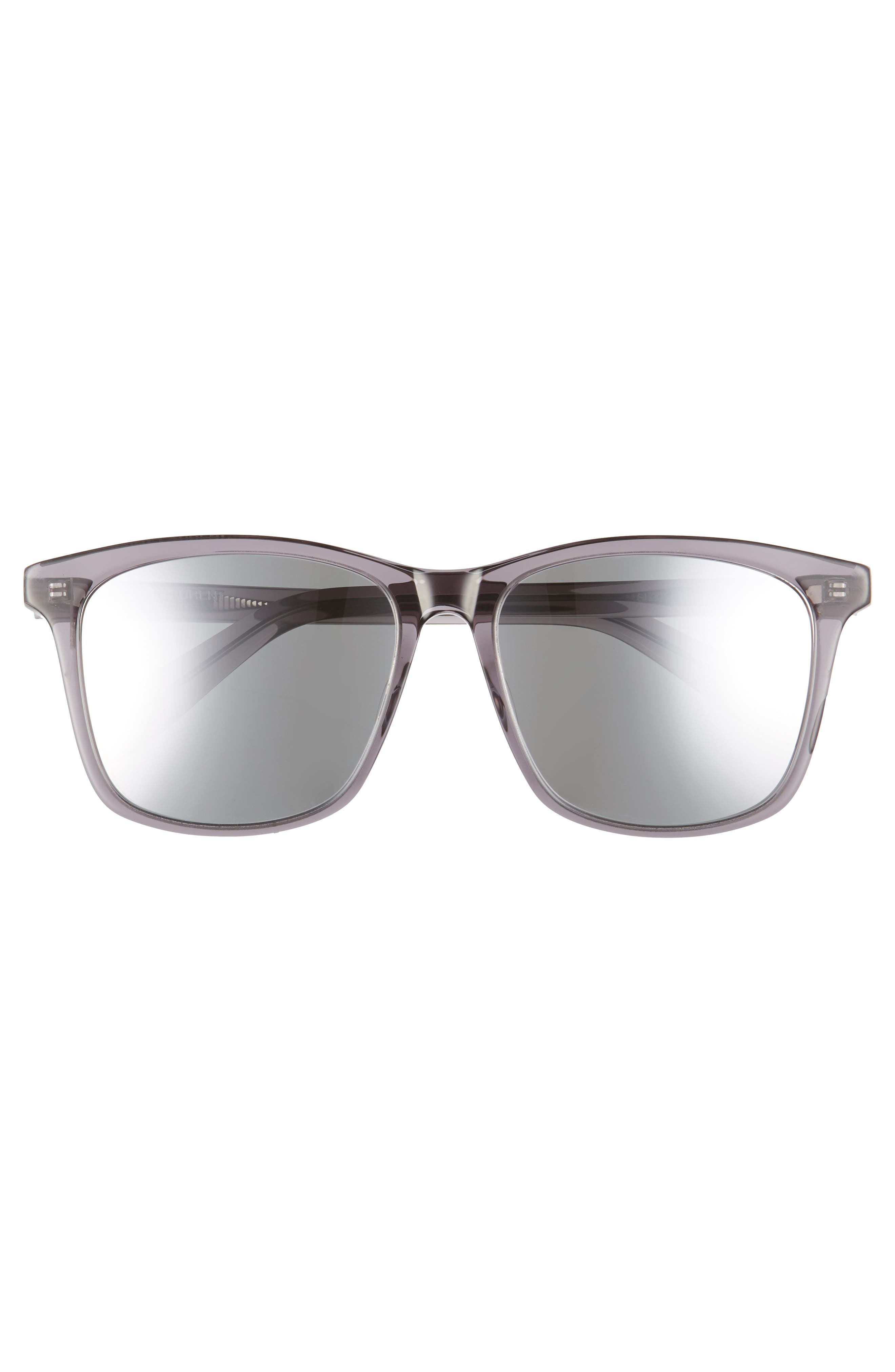 205/K 57mm Sunglasses,                             Alternate thumbnail 2, color,                             GREY
