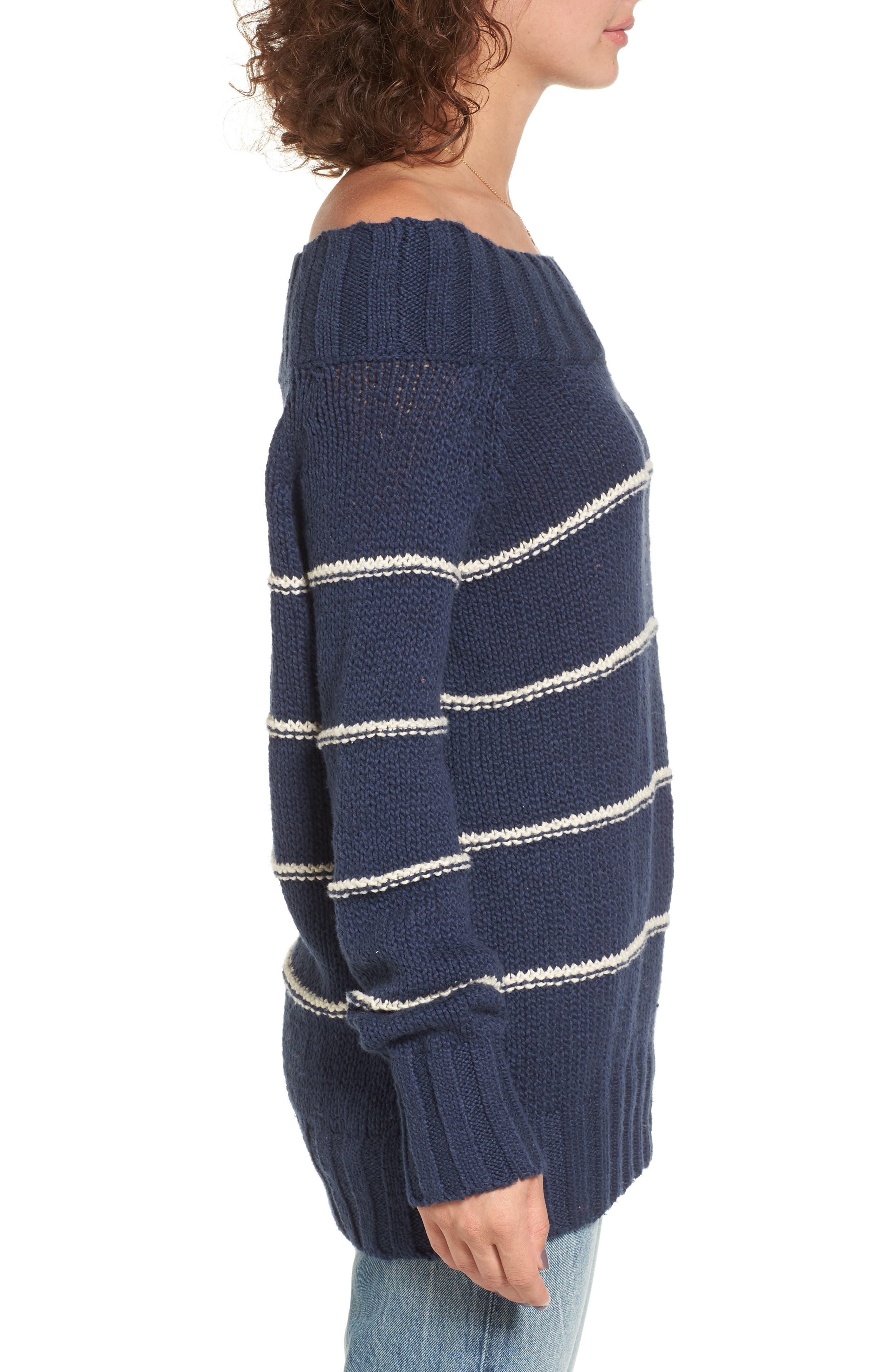 BILLABONG,                             Snuggle Down Off the Shoulder Sweater,                             Alternate thumbnail 3, color,                             400