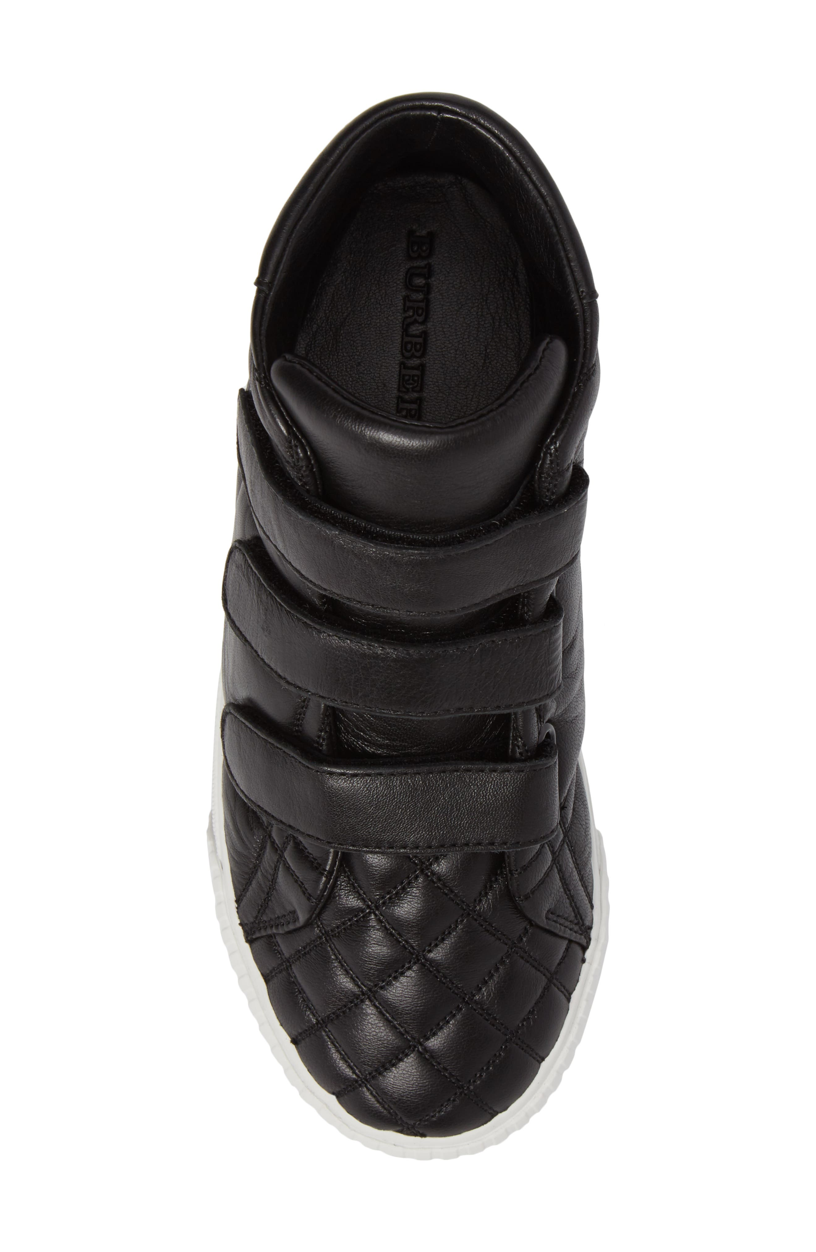 Sturrock Quilted High Top Sneaker,                             Alternate thumbnail 5, color,                             001