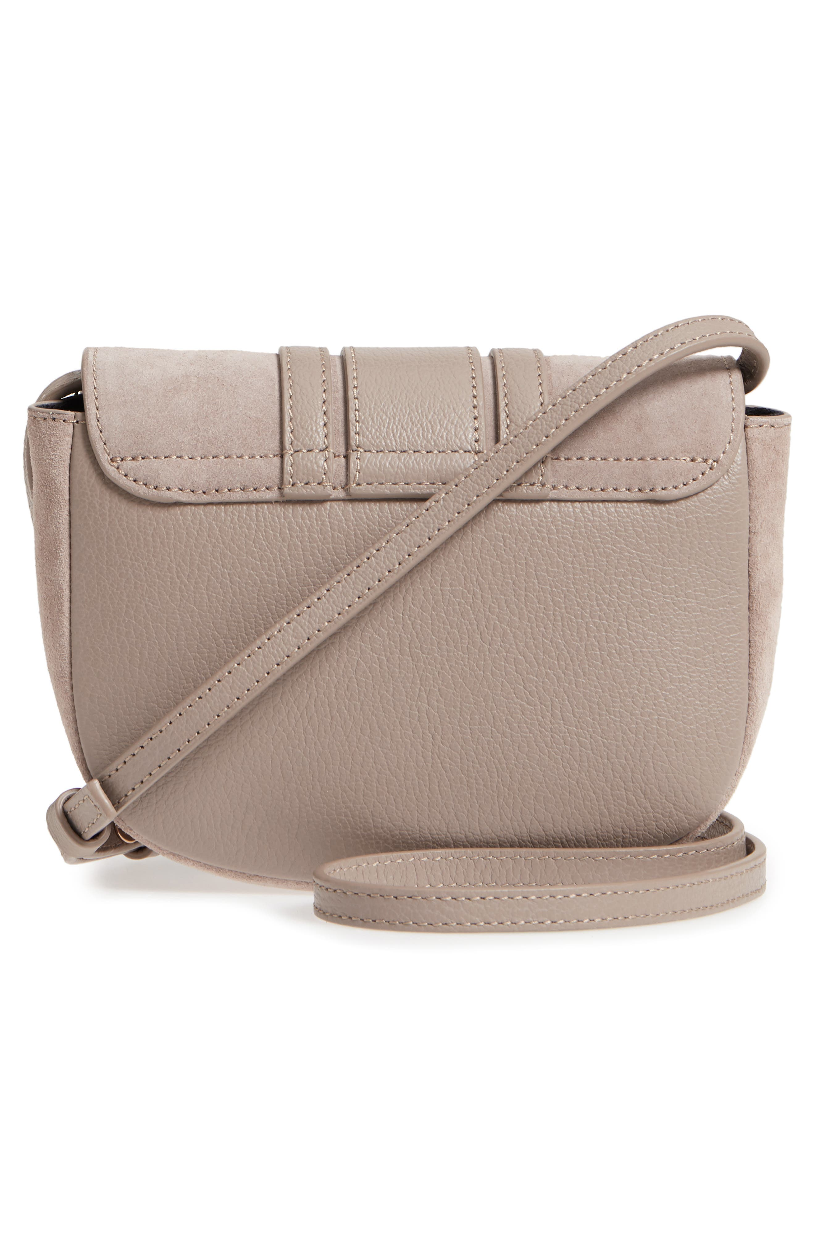 Mini Hana Leather & Suede Crossbody Bag,                             Alternate thumbnail 3, color,                             260