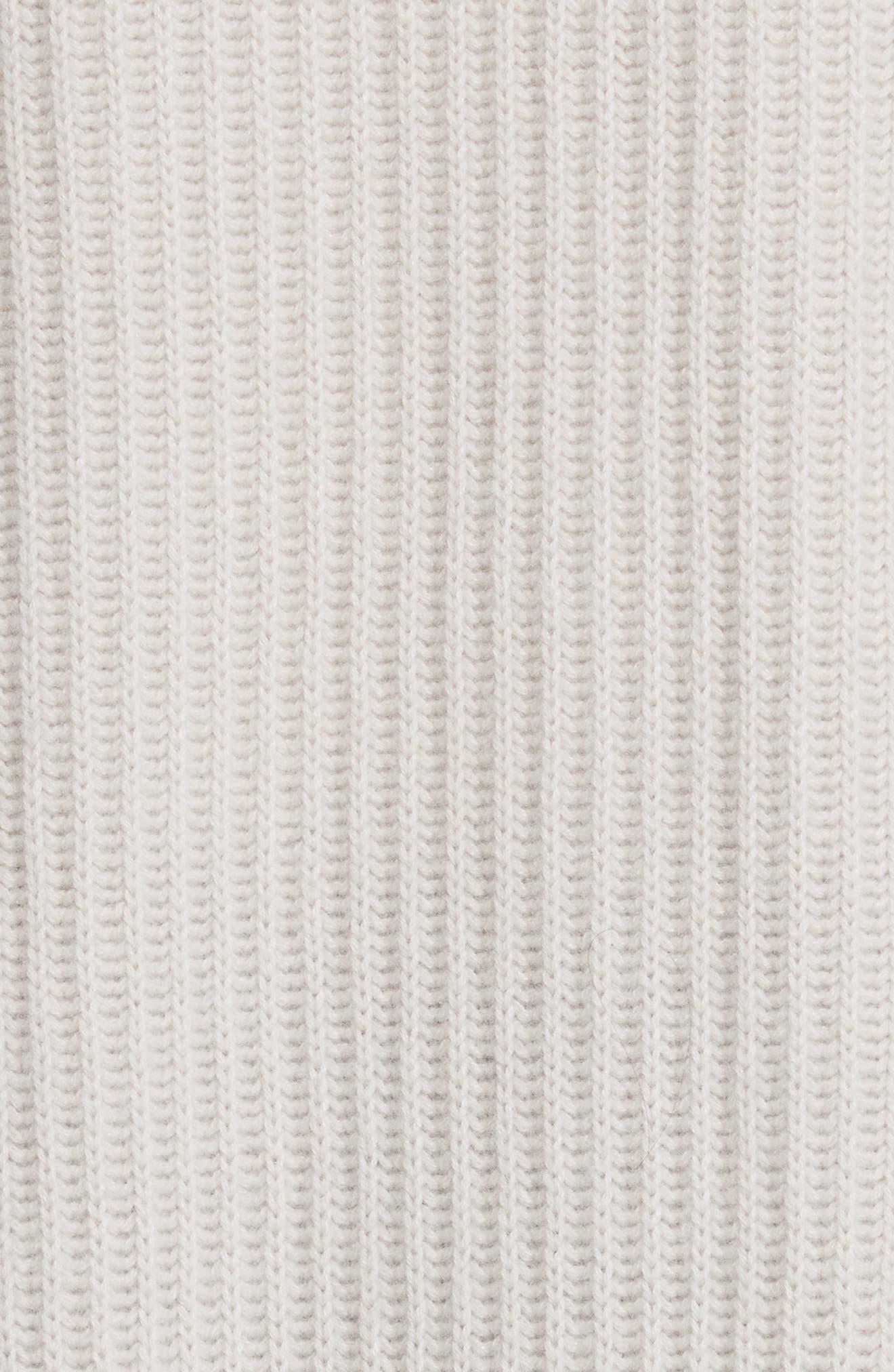 Rib Knit Wool Blend Cardigan,                             Alternate thumbnail 5, color,                             266